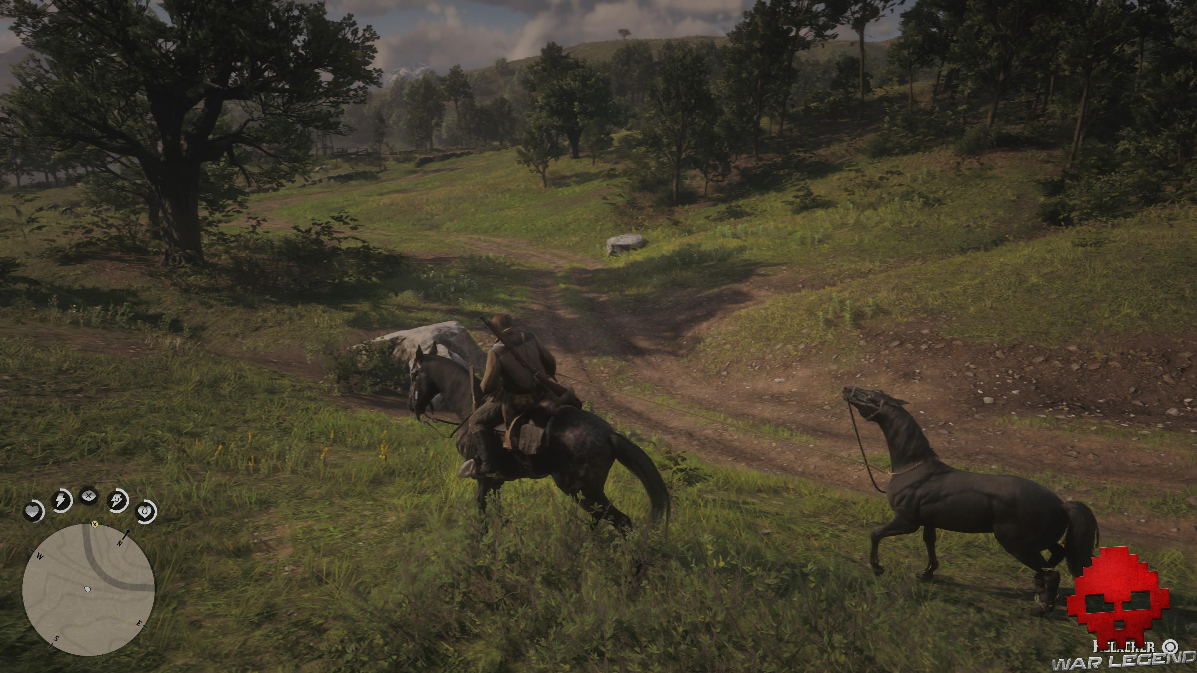 soluce red dead redemption 2 une faim de cheval arthur tire un cheval au bout d'une corde