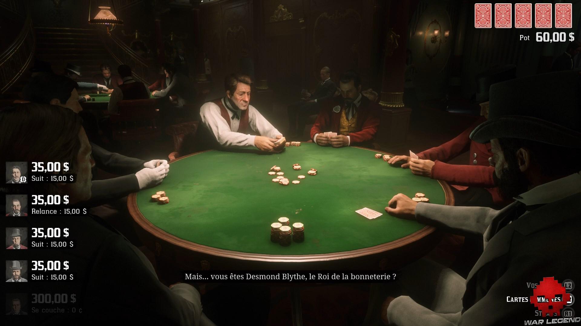 soluce red dead redemption 2 une longue nuit de déabuche table de poker