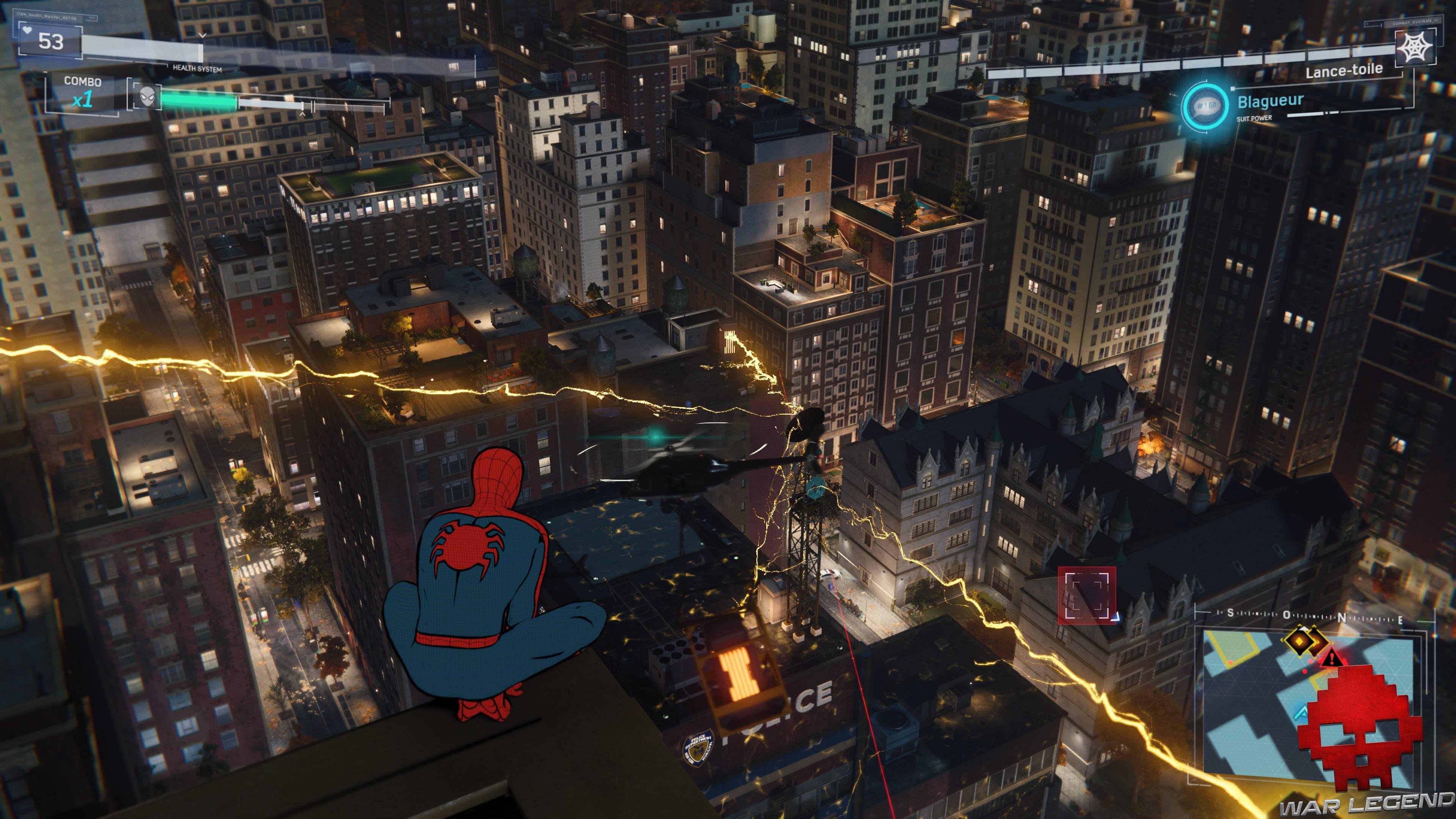 Solution spider-man en scylla électricité sur le commissariat d'Upper East Side