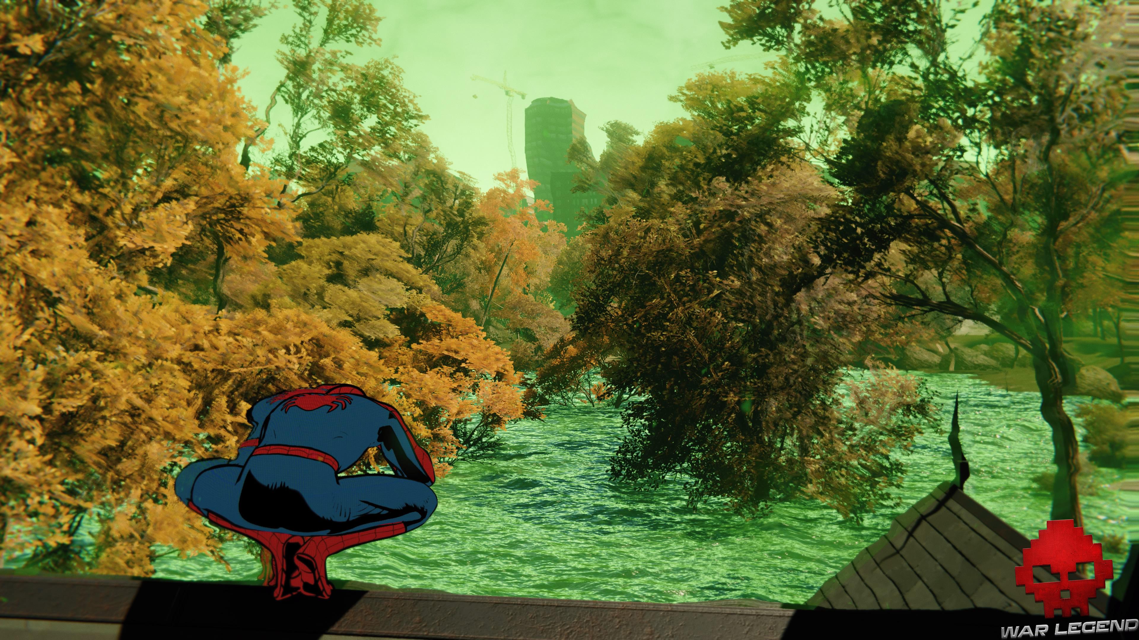 solution Spider-Man rues empoisonnées - mer verte