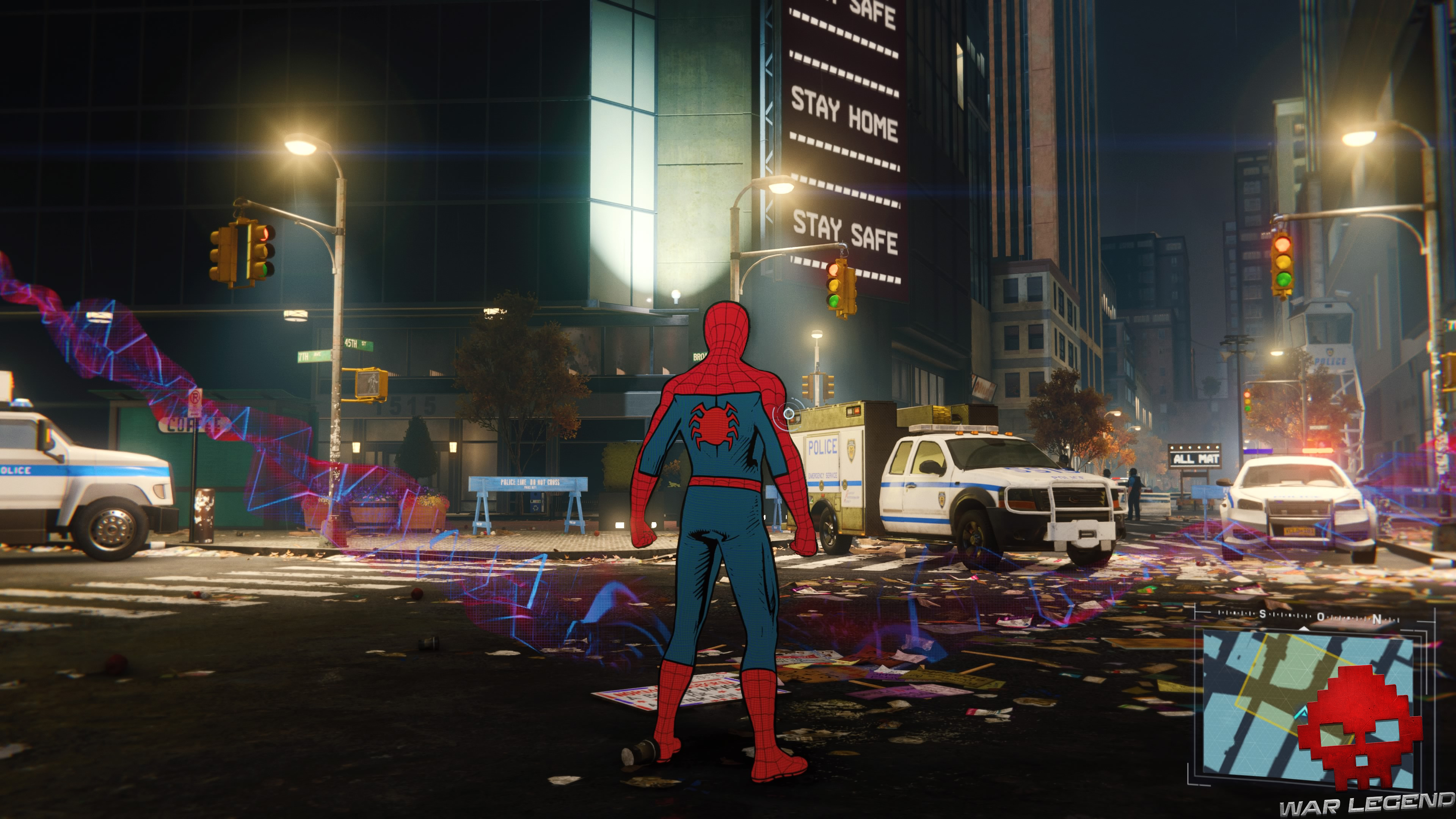 Test Spider-Man - Spider-Man cartoon dans la rue