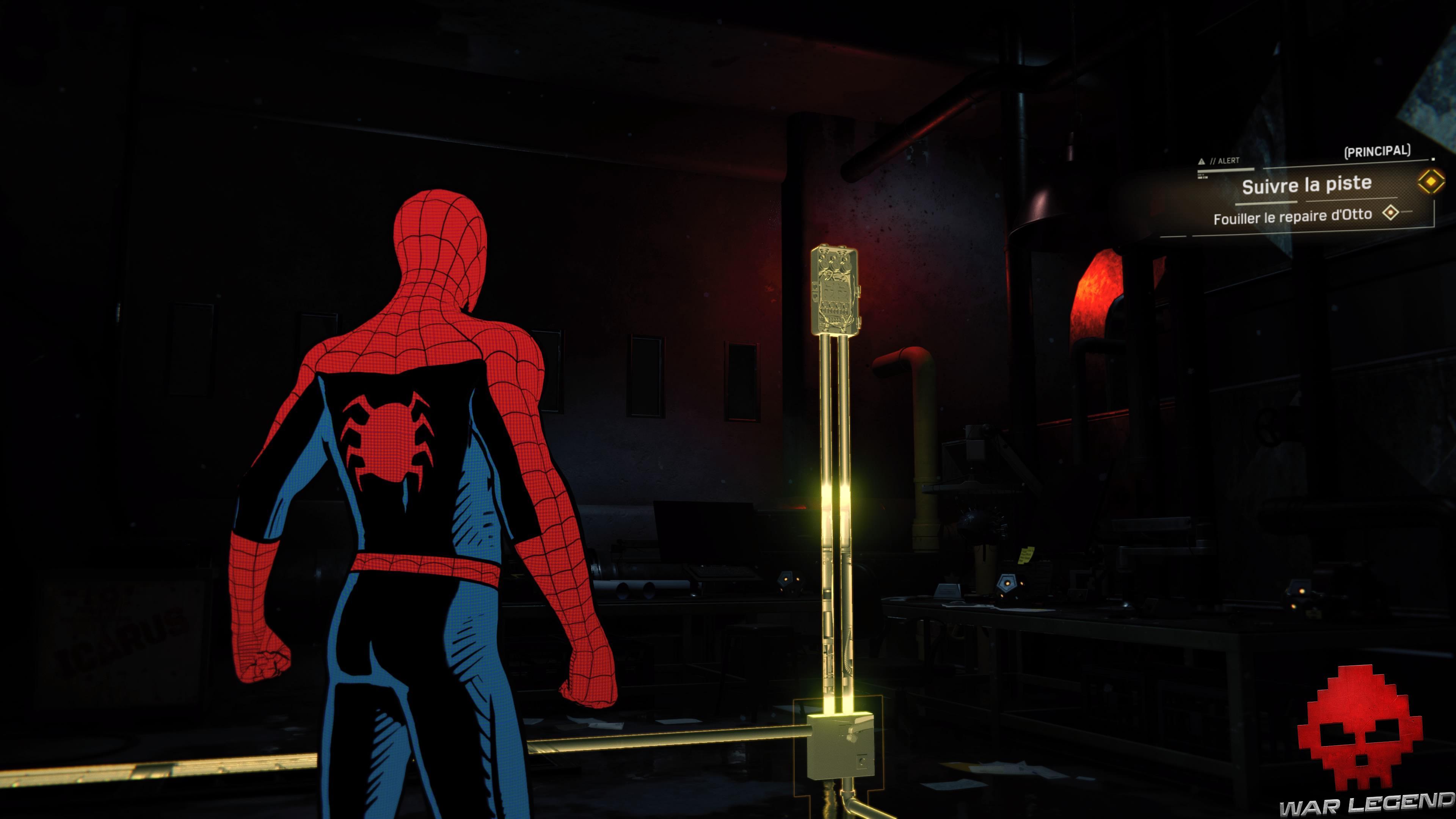 solution Spider-Man suivre la piste - boîtier électrique