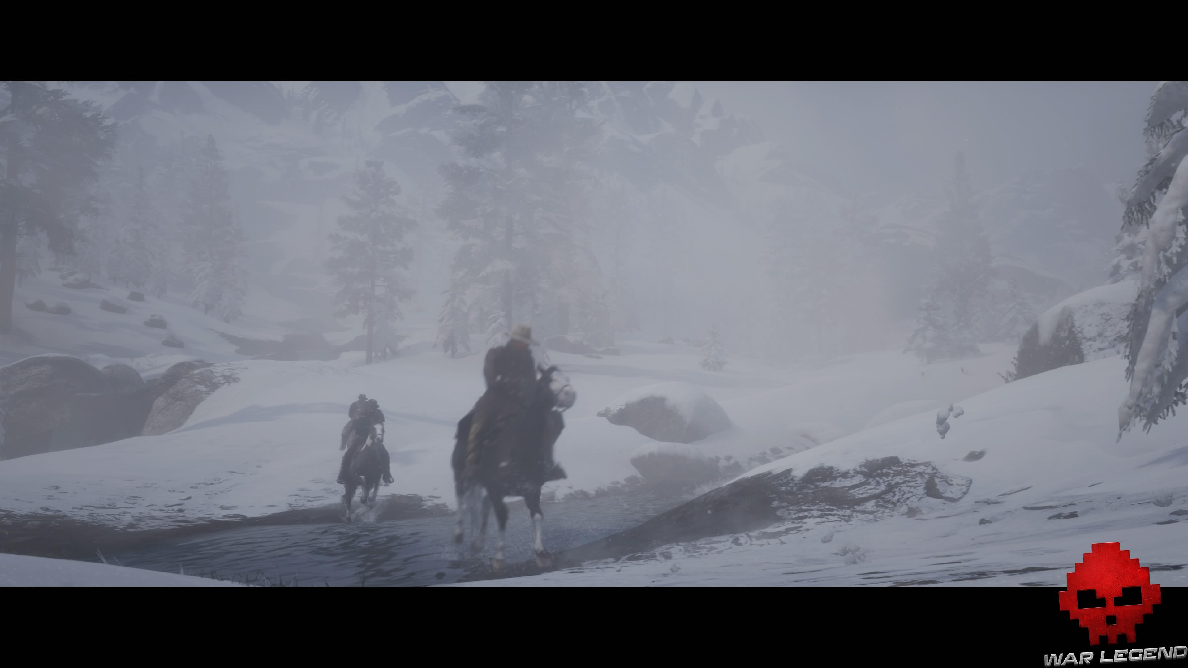 soluce red dead redemption 2 de vieux amis cavaliers traversant un cours d'eau