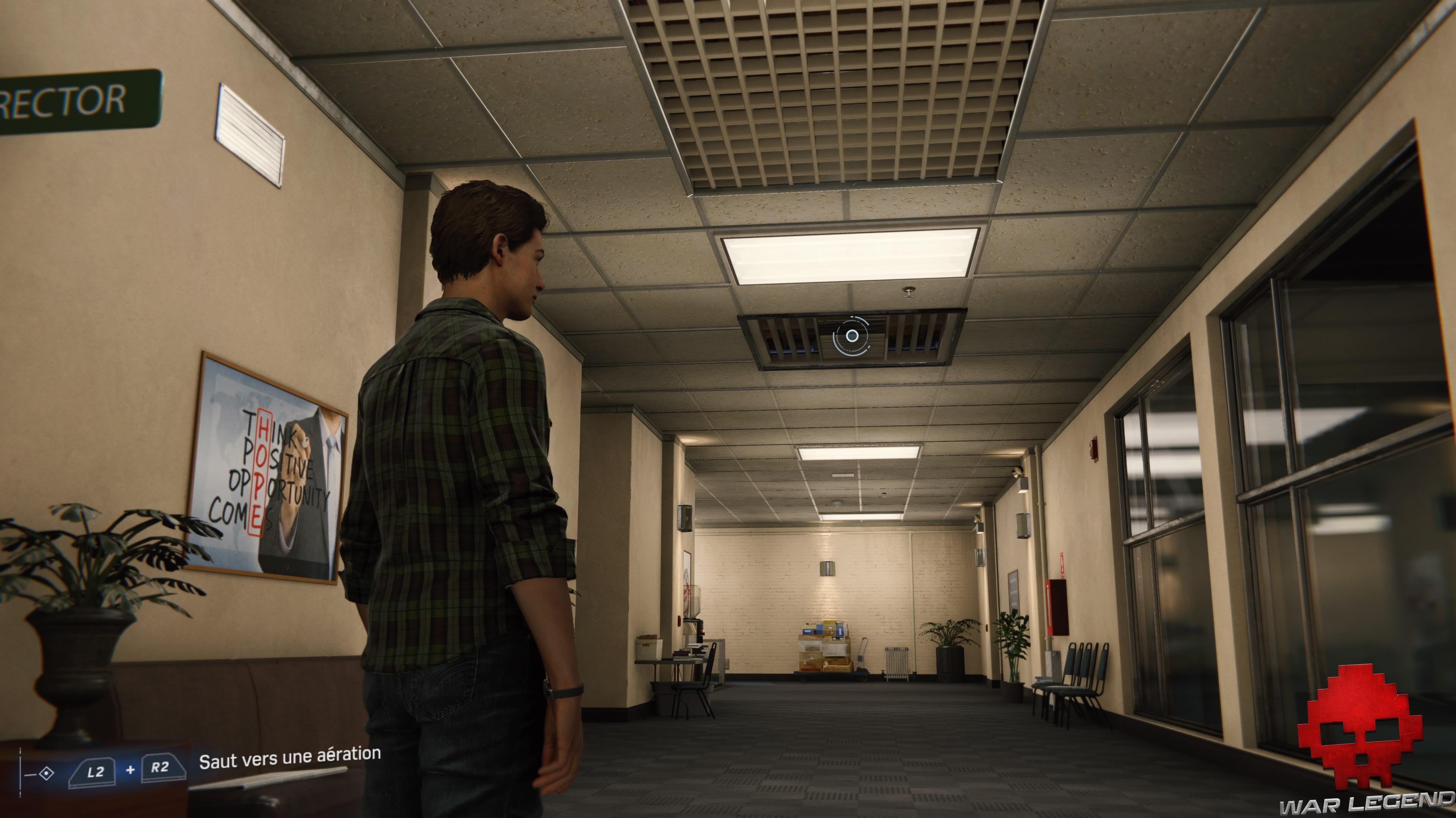 solution spider-man dessein secret conduit d'aération au plafond