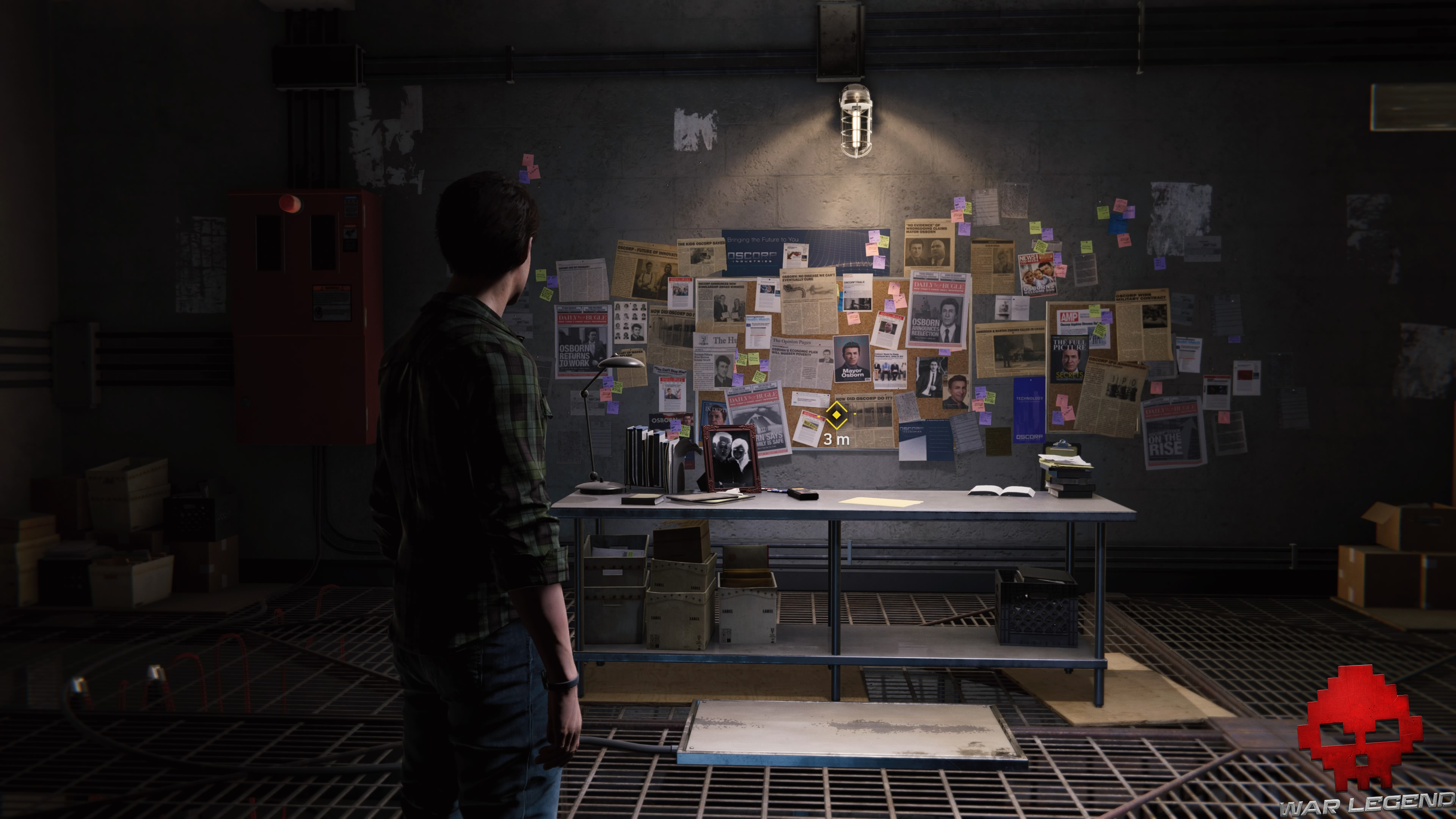solution spider-man dessein secret nombreux éléments accrochés au mur
