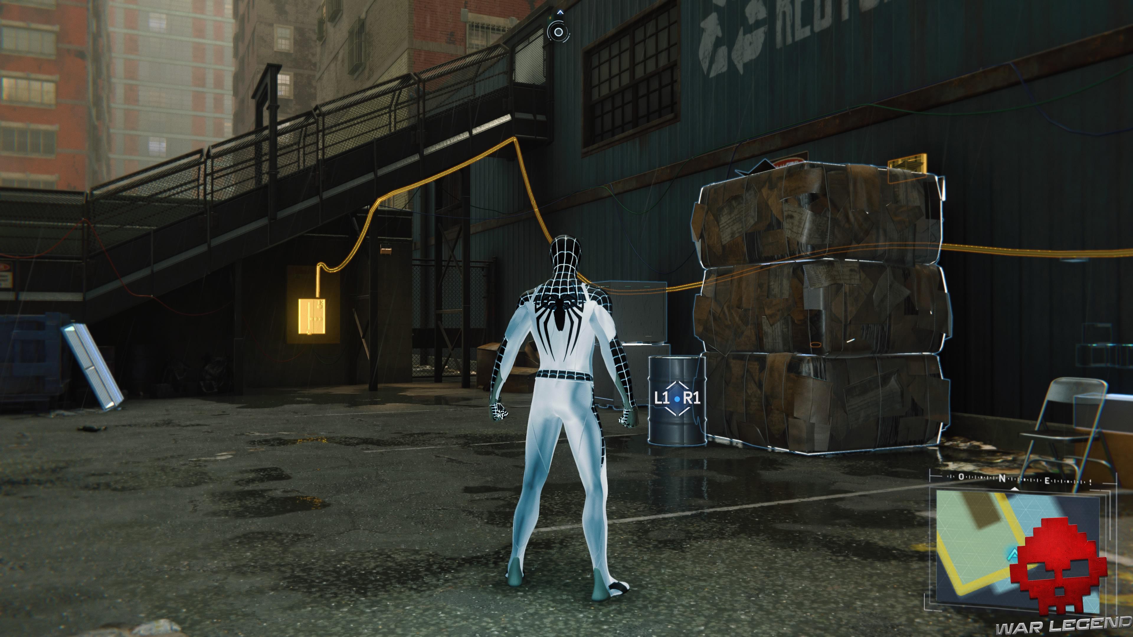 solution spider-man double jeu courant électrique vers boîtier de commande