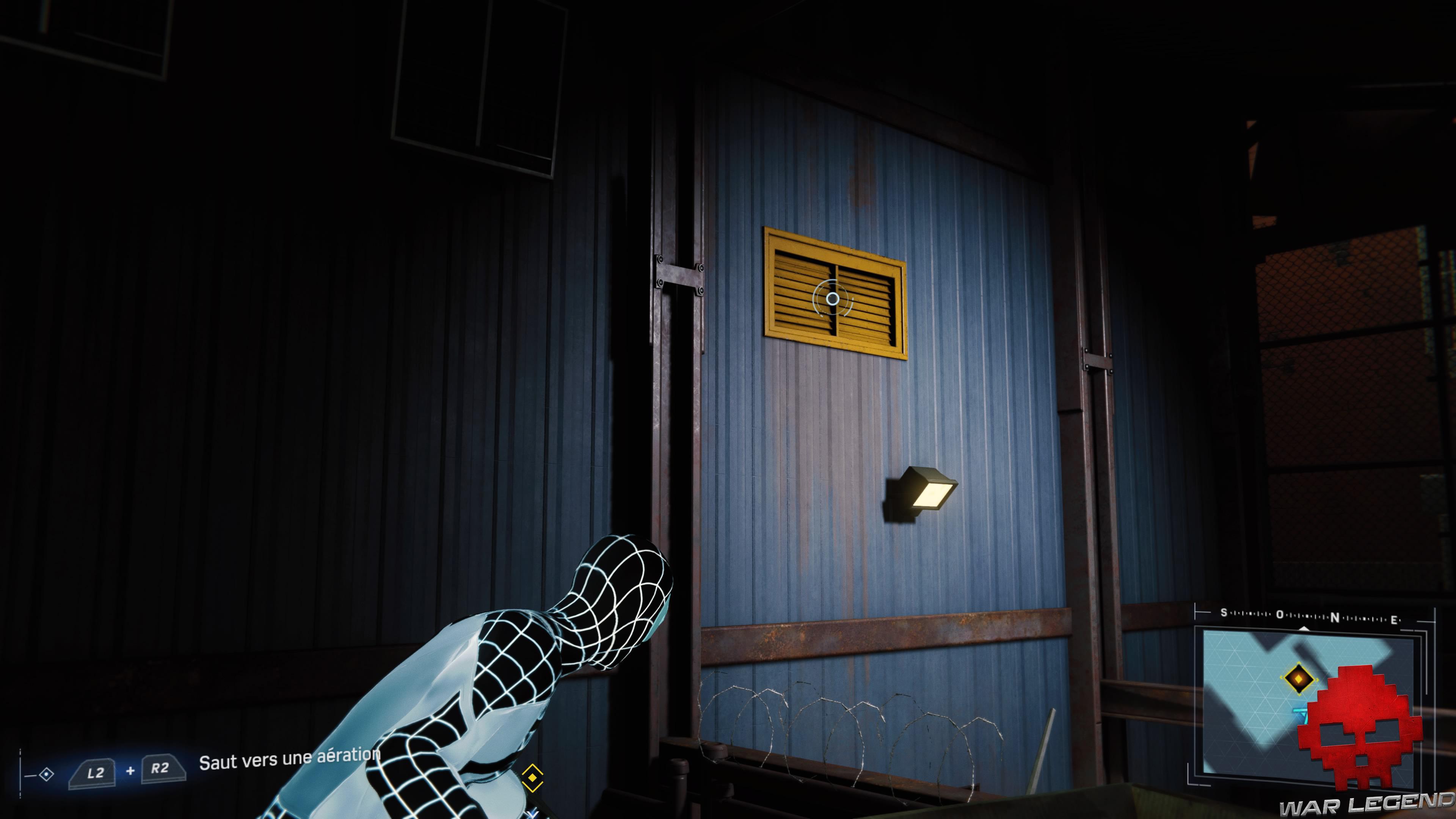 solution spider-man double jeu grille d'aération murale