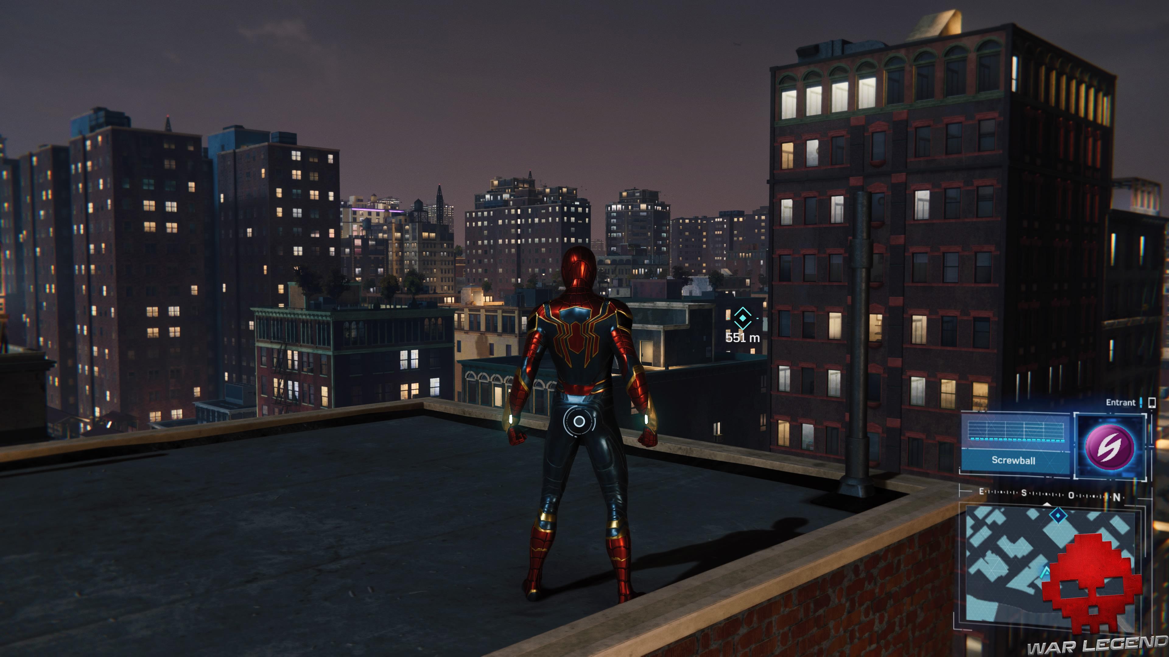 solution spider-man le feu des projecteurs - Spider-Man sur un toit