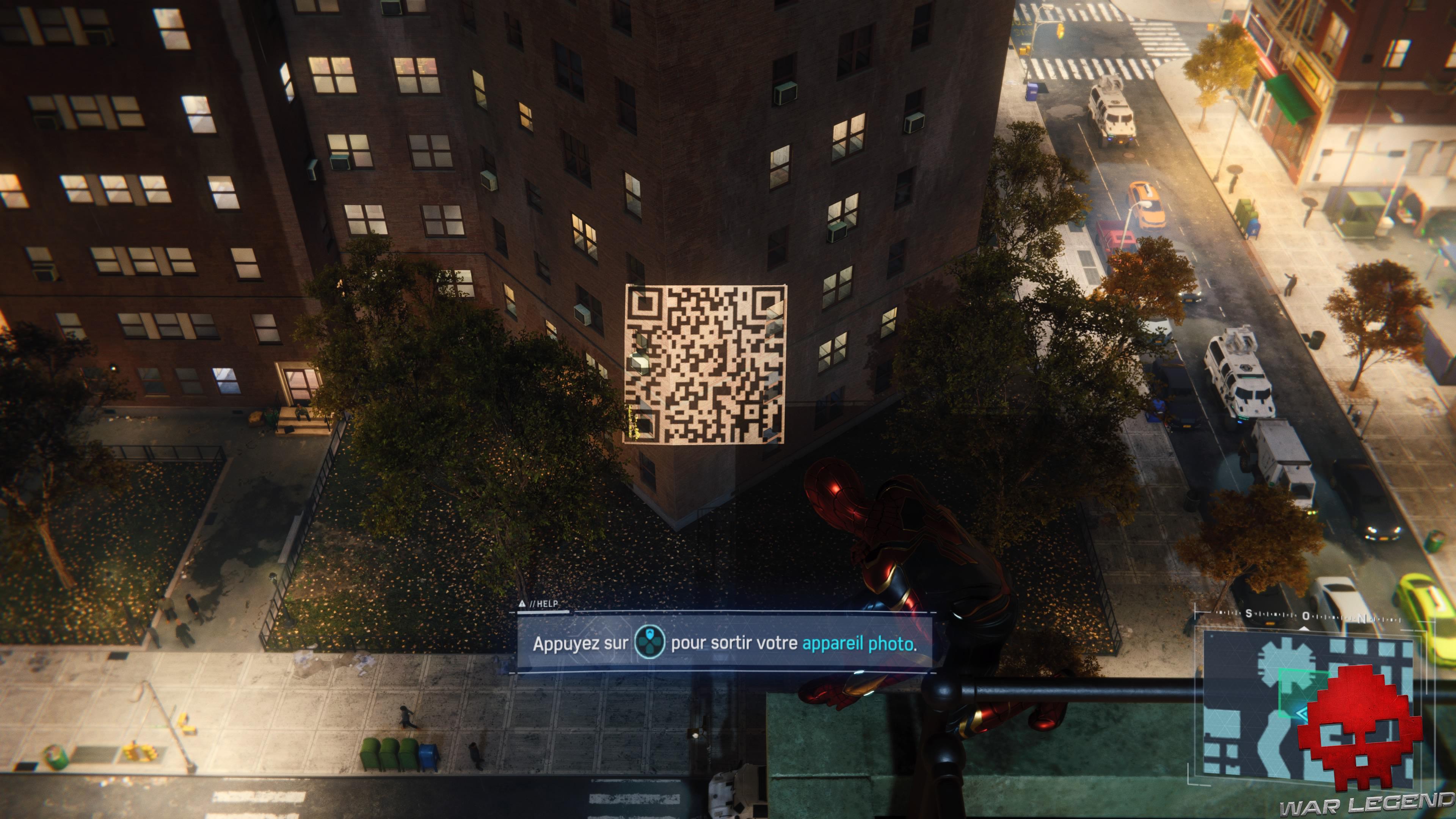 solution spider-man le feu des projecteurs - Spider-Man prend devant un QR Code