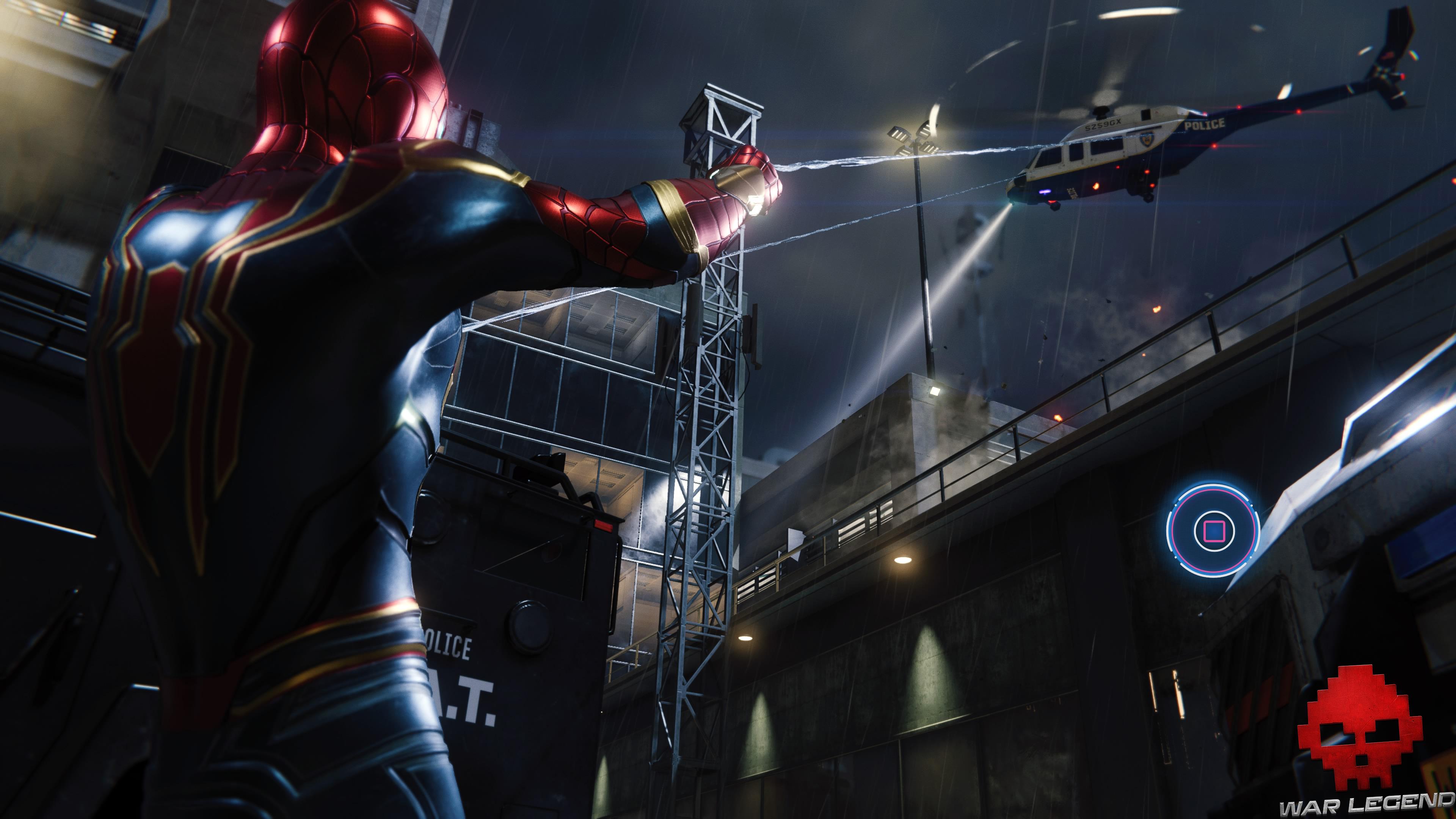 solution spider-man réflexion - Spider-Man retient un hélicoptère avec ses toiles