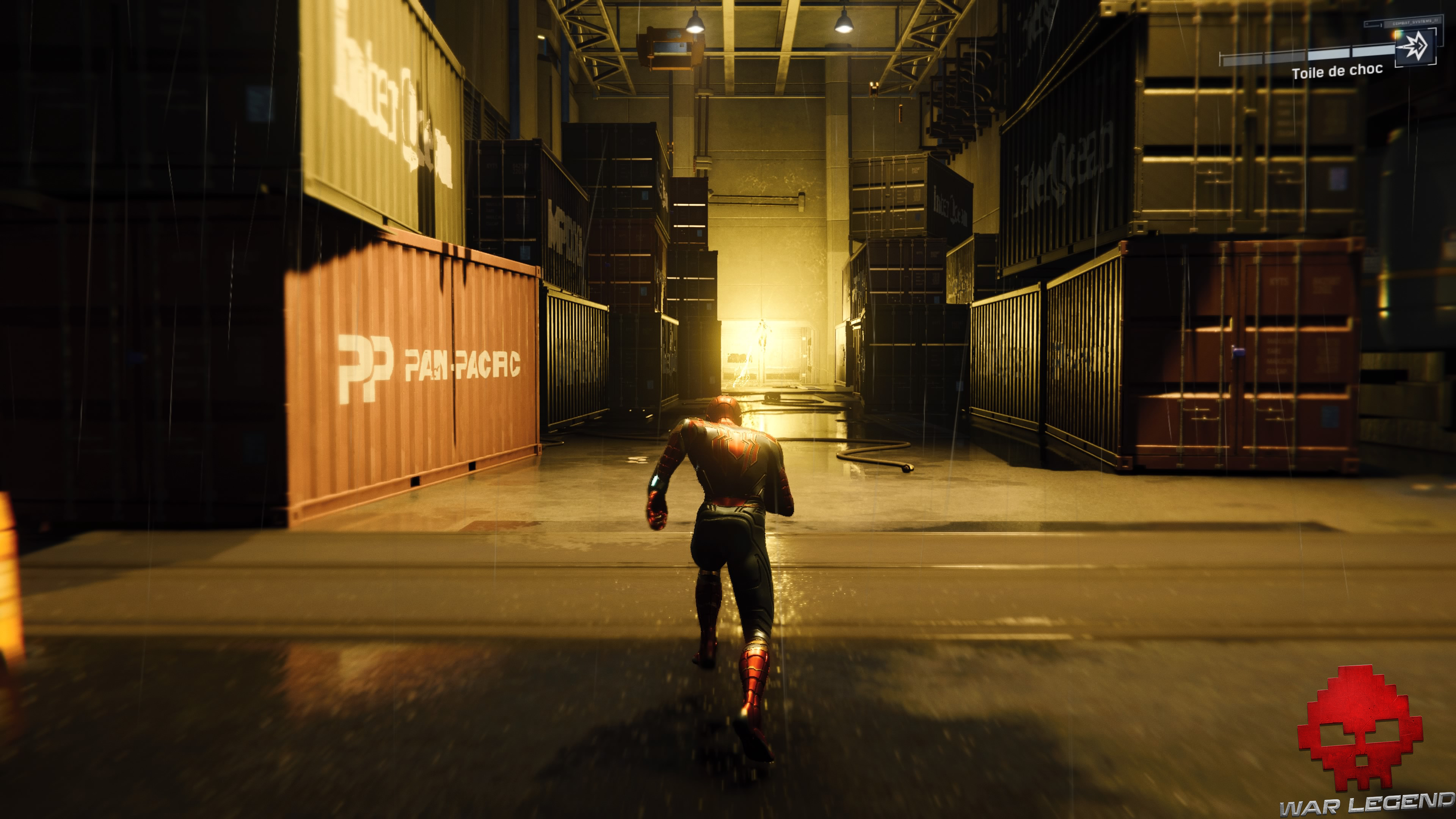 solution spider-man réflexion - Electro dans un hangar
