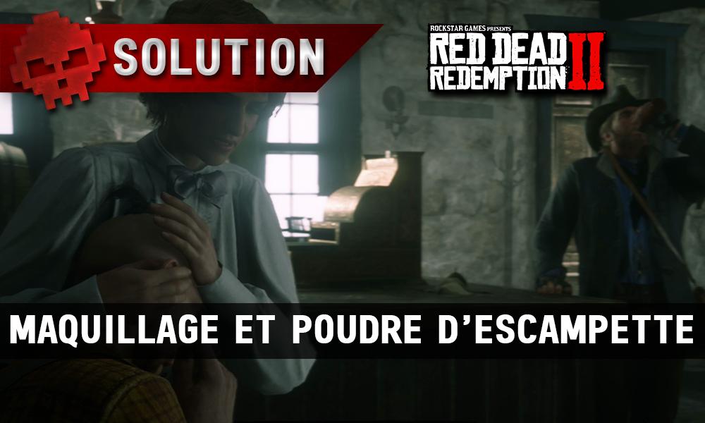 vignette soluce red dead redemption 2 maquillage et poudre d'escampette