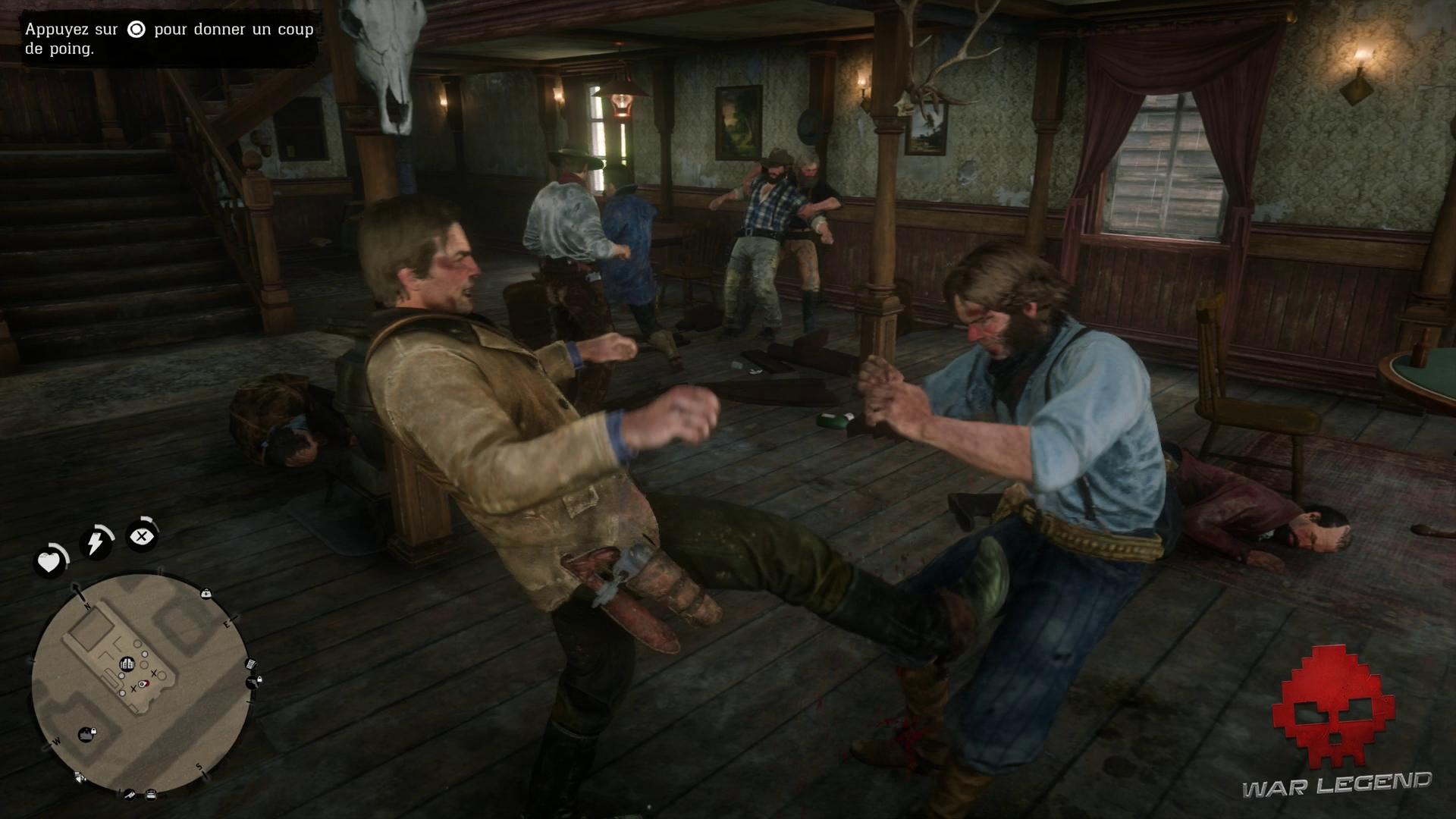 Soluce Red Dead Redemption 2 - Repos à l'américaine Arthur donne un coup de pied