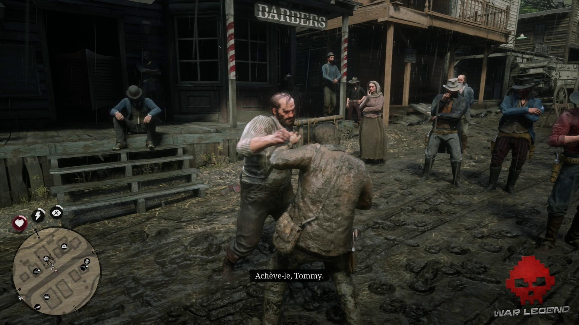 Soluce Red Dead Redemption 2 - Repos à l'américaine Arthur pare le coup de Tommy