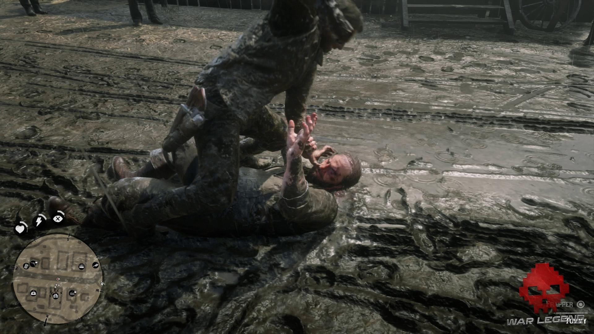 Soluce Red Dead Redemption 2 - Repos à l'américaine Morgan frappe Tommy au sol