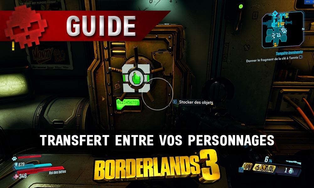 guide borderlands 3 transfert compte