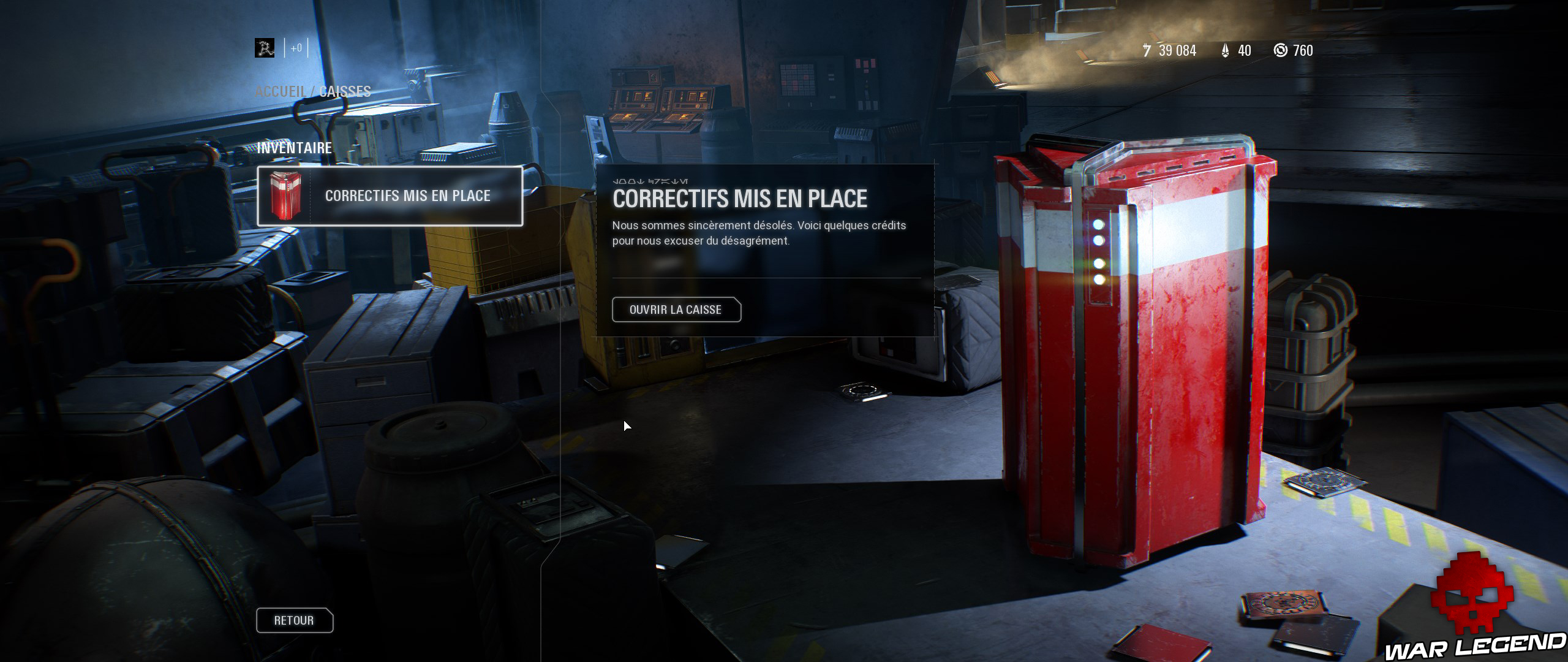 ReTest Star Wars Battlefront II loot box correctif excuses