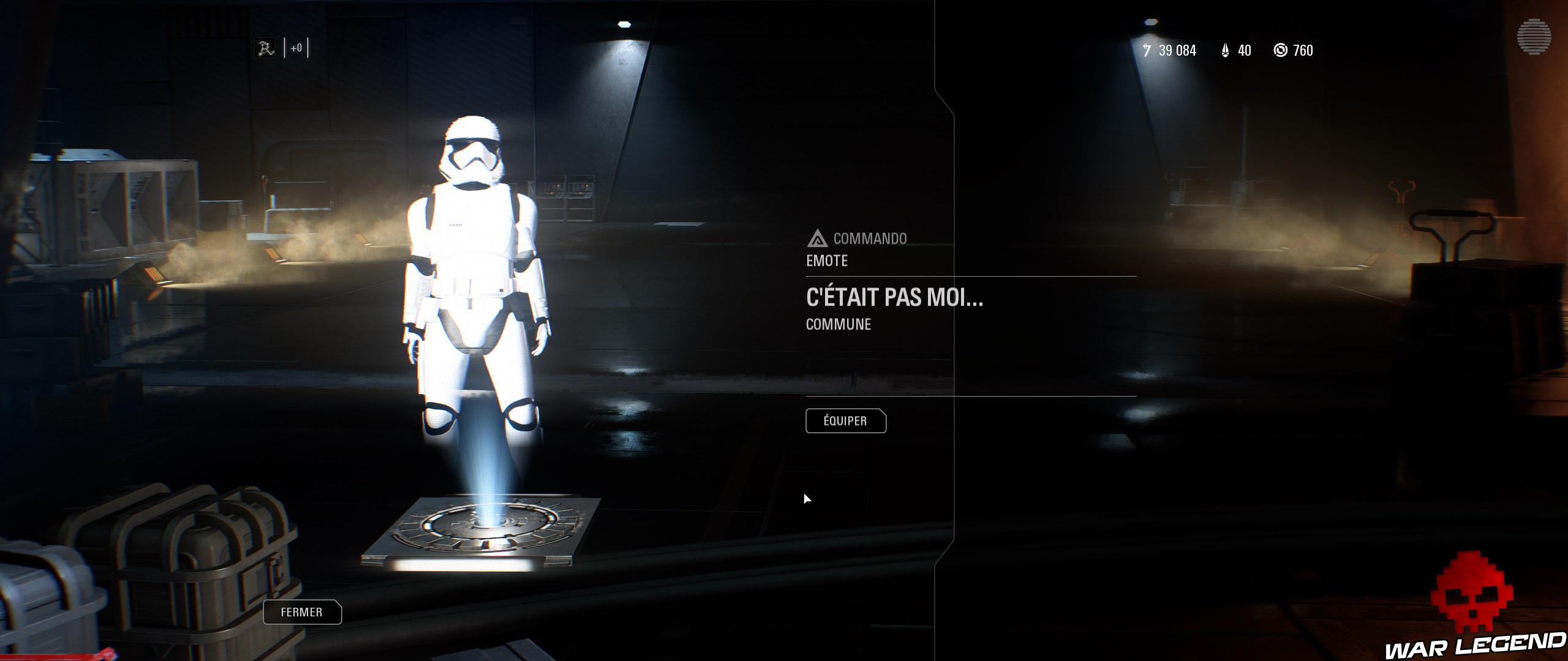 ReTest Star Wars Battlefront II emote c'était pas moi