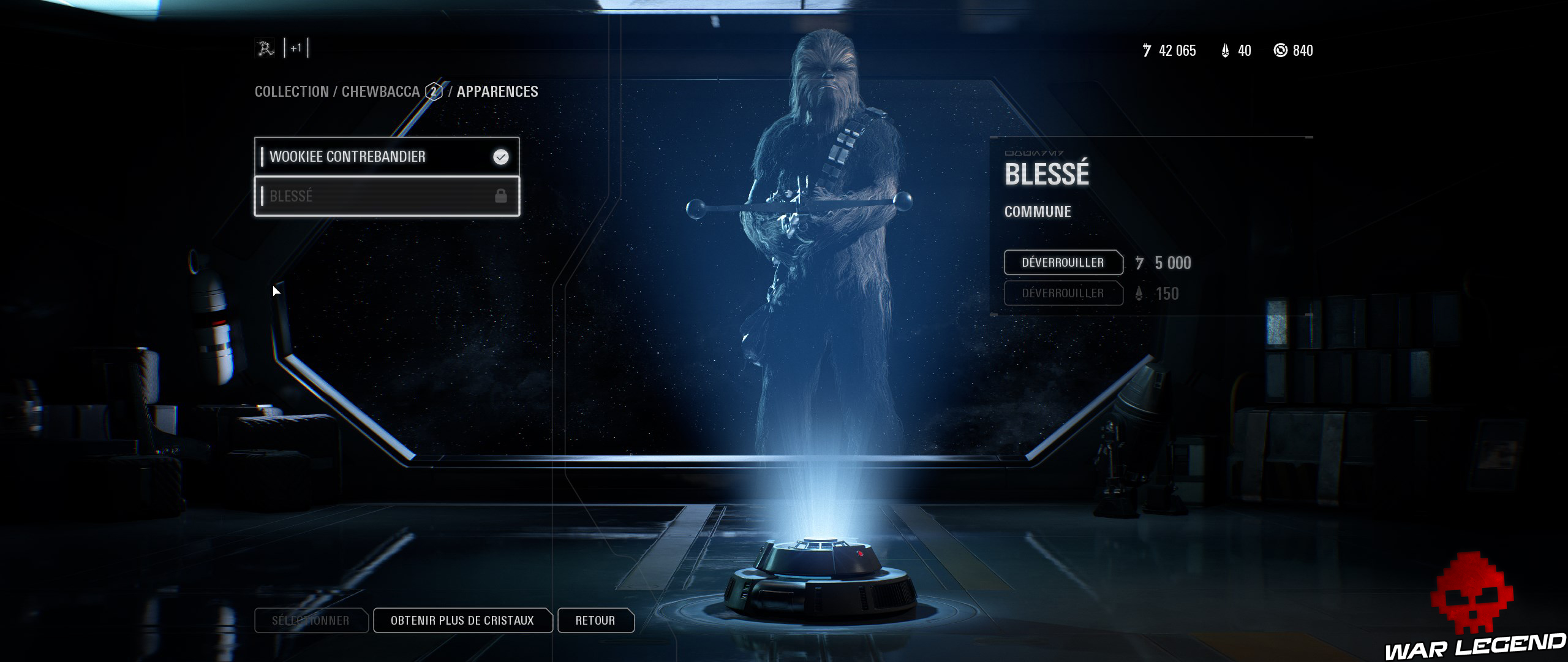 ReTest Star Wars Battlefront II skin chewbacca blessé