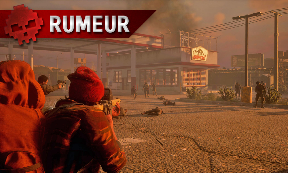 Deux joueurs à l'assault d'une station essence infestée de zombies