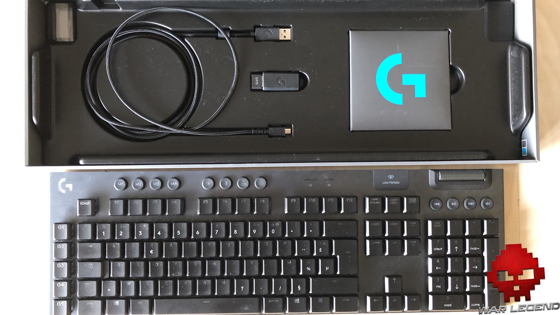 test logitech g915 - boîte ouverte