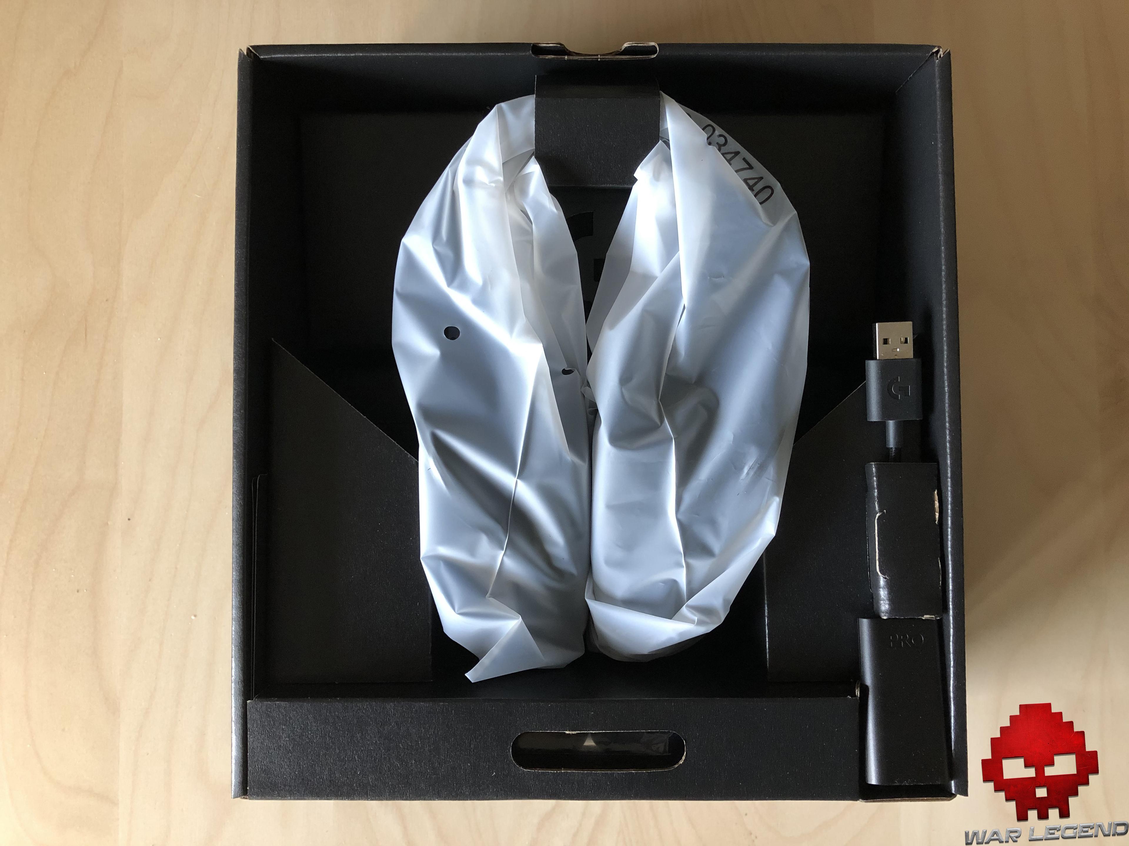 test logitech g pro x casque dans l'emballage, dans son plastique