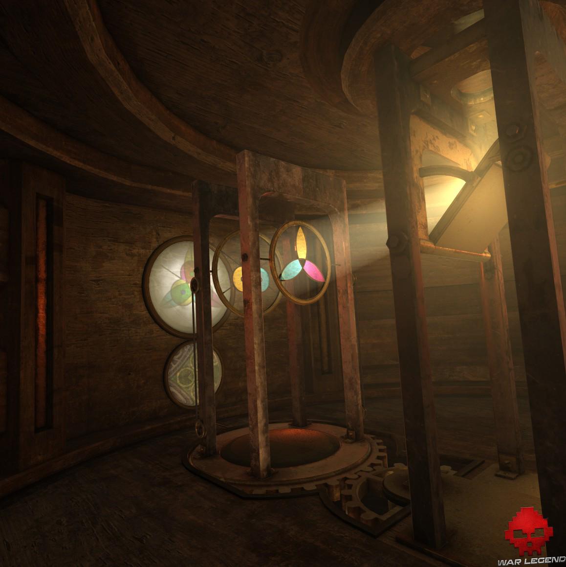 The Room VR: A Dark Matter - éclairage de motifs en suspension