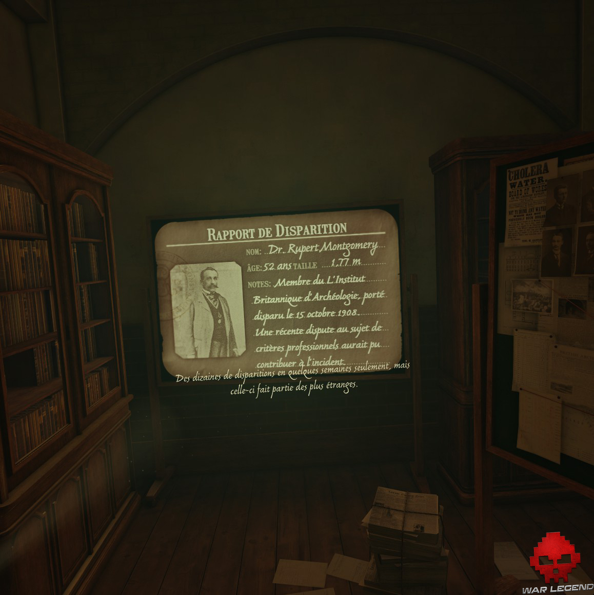 The Room VR: A Dark MAtter - rapport de disparition