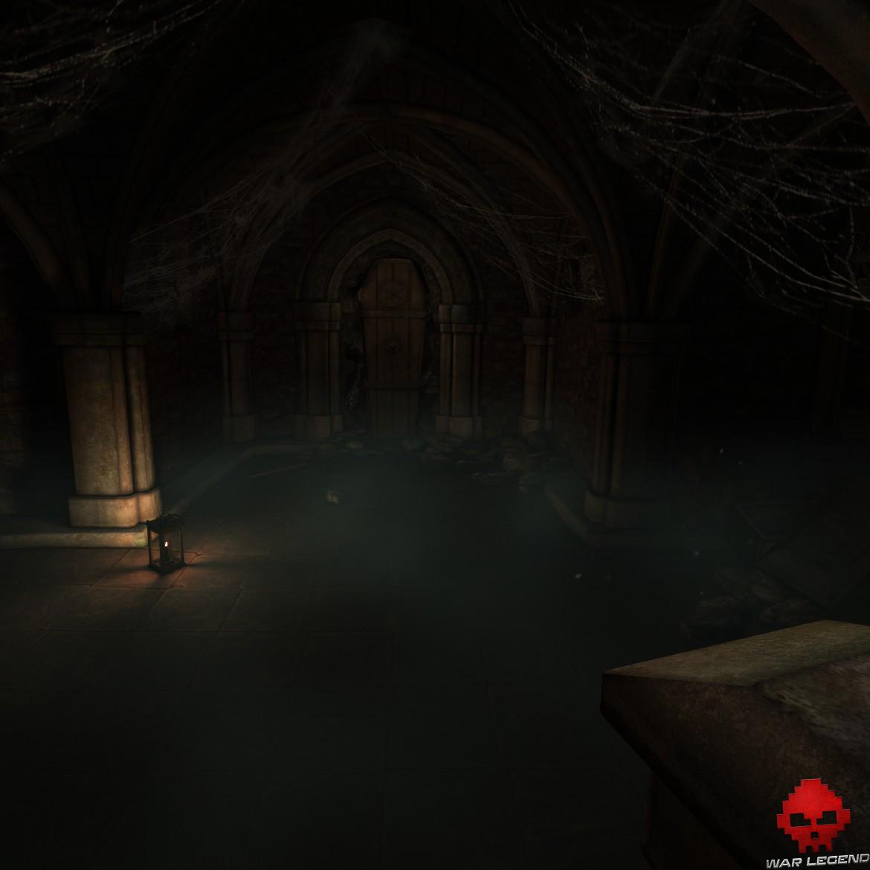 The Room VR: A Dark Matter - crypte avec cercueil au mur