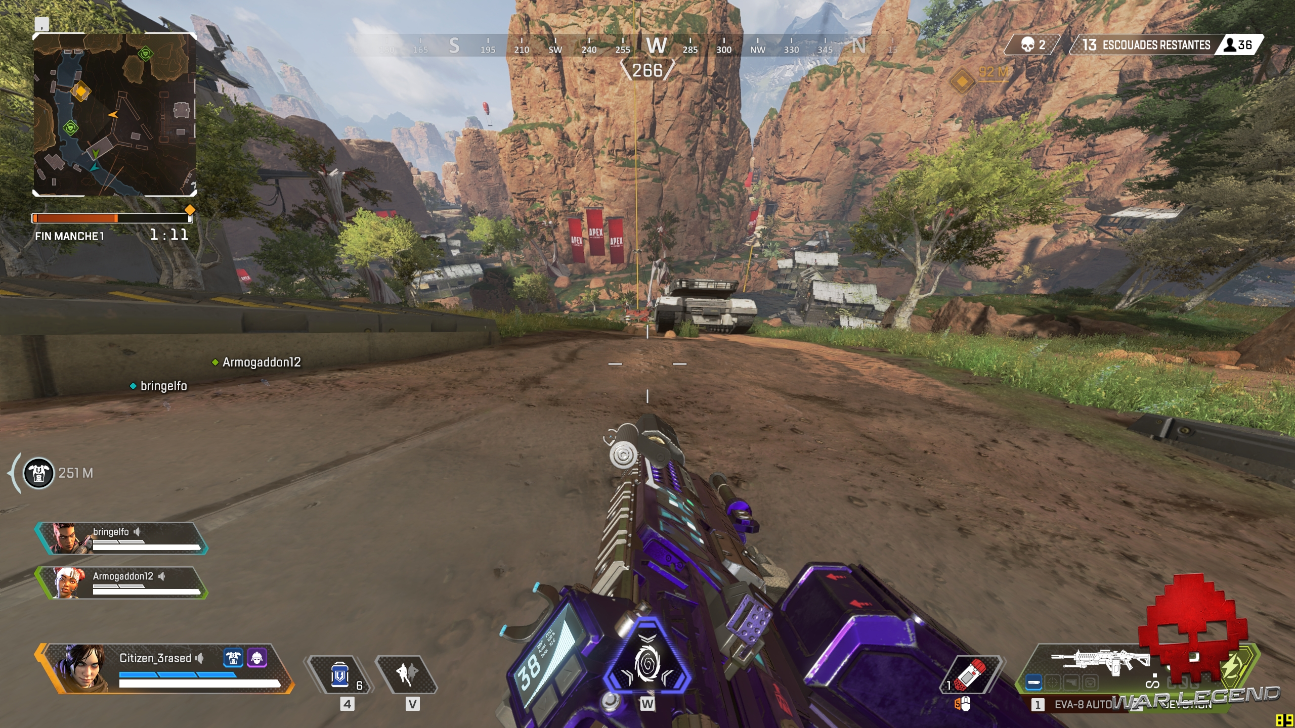 Test Apex Legends - Glissade le long d'une pente