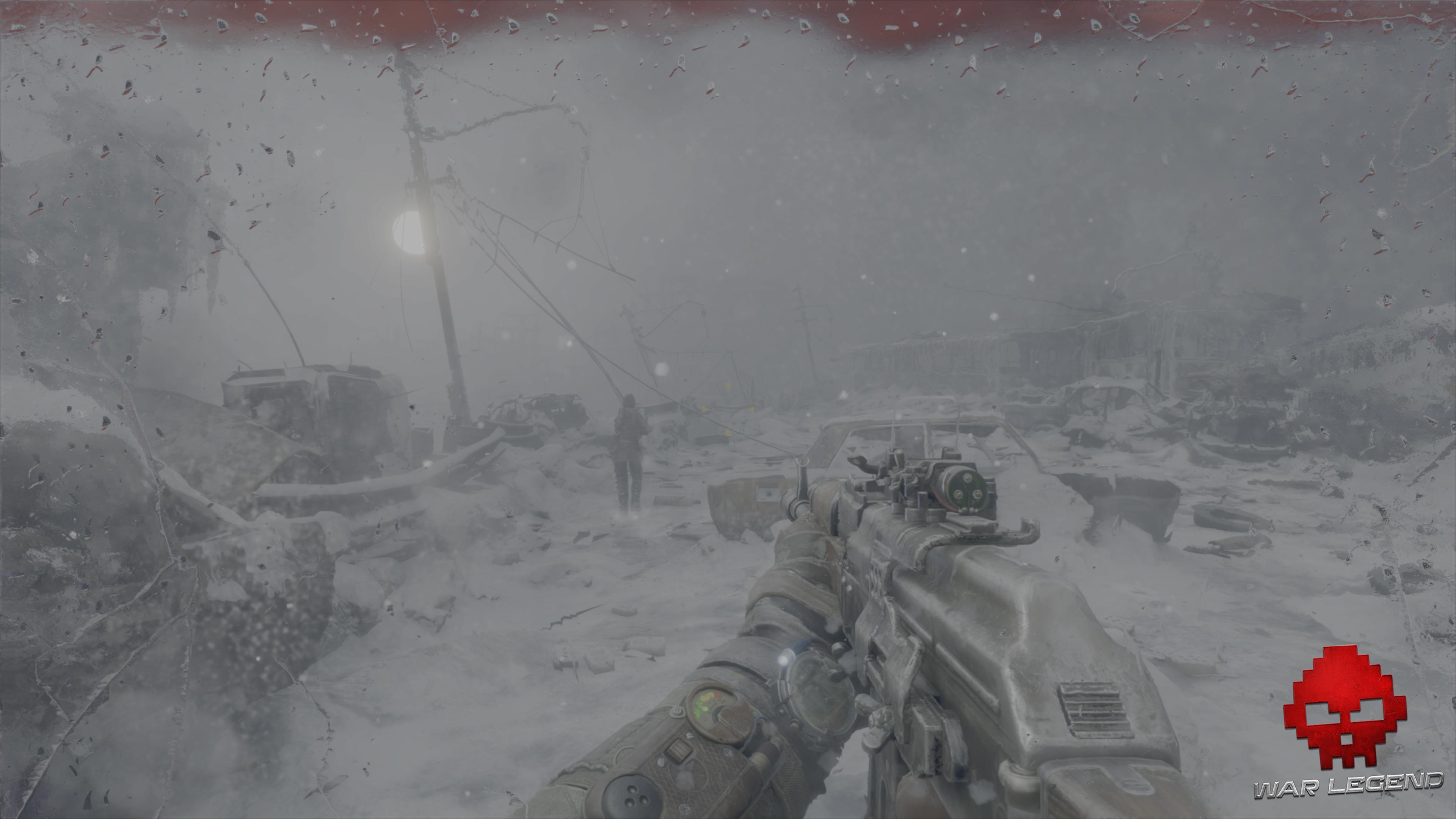 Test Metro Exodus - Environnement enneigé de Moscou