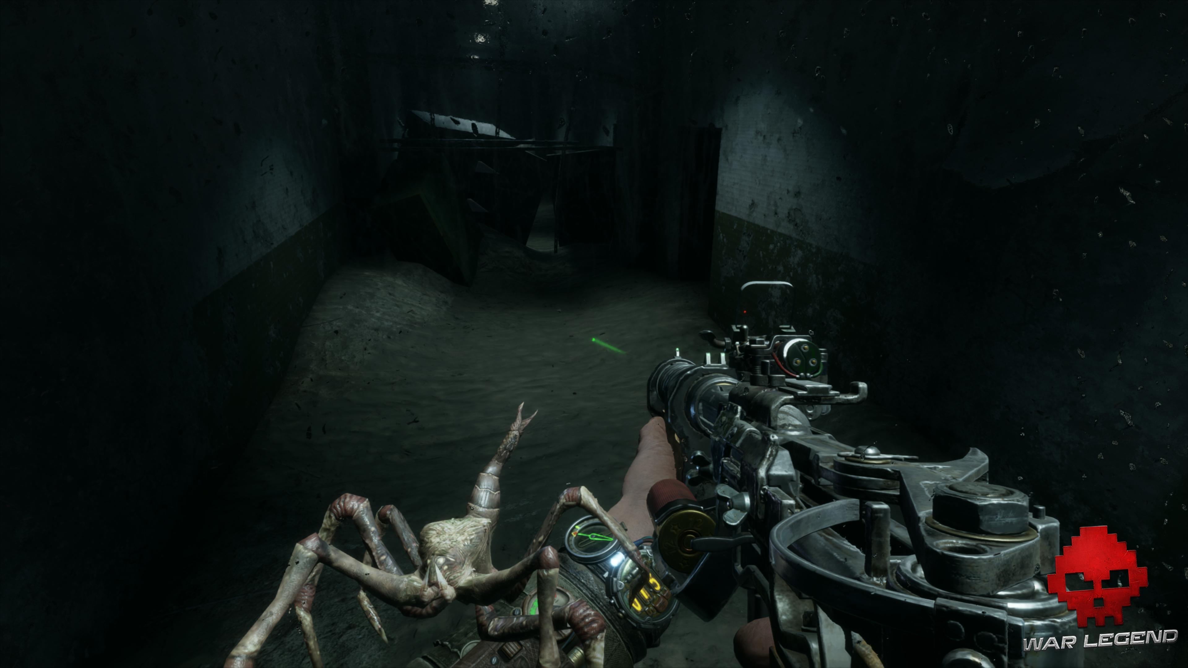 Test Metro Exodus - Une araignée mutante sur le bras d'Artyom