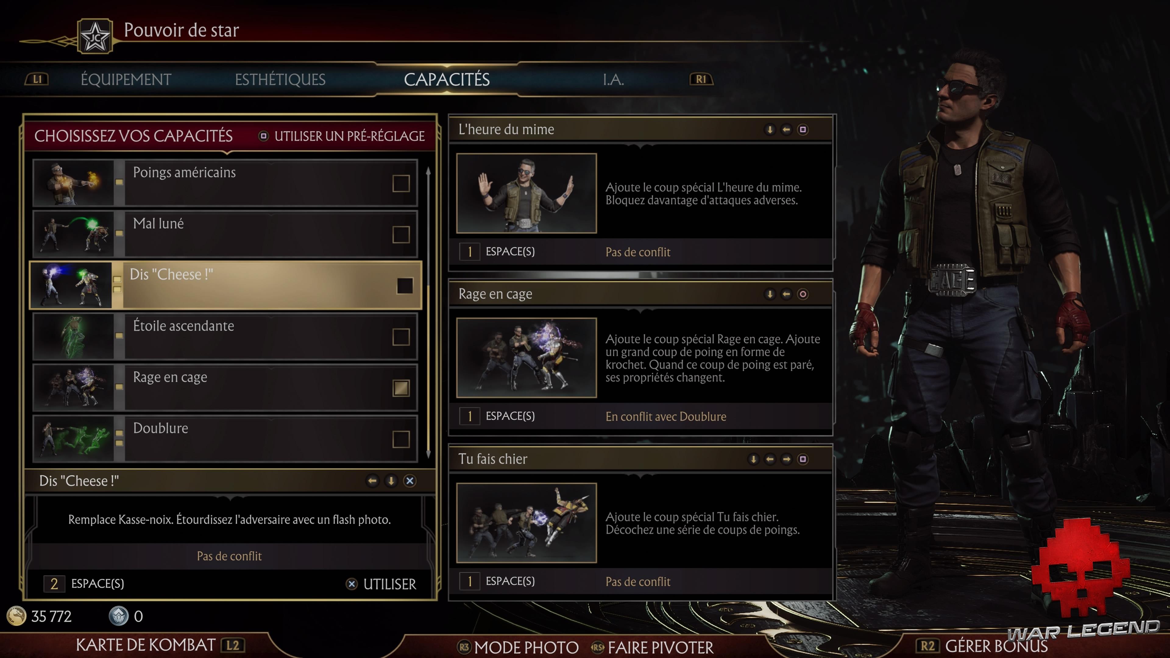 Test Mortal Kombat 11 - Choix des coups spéciaux
