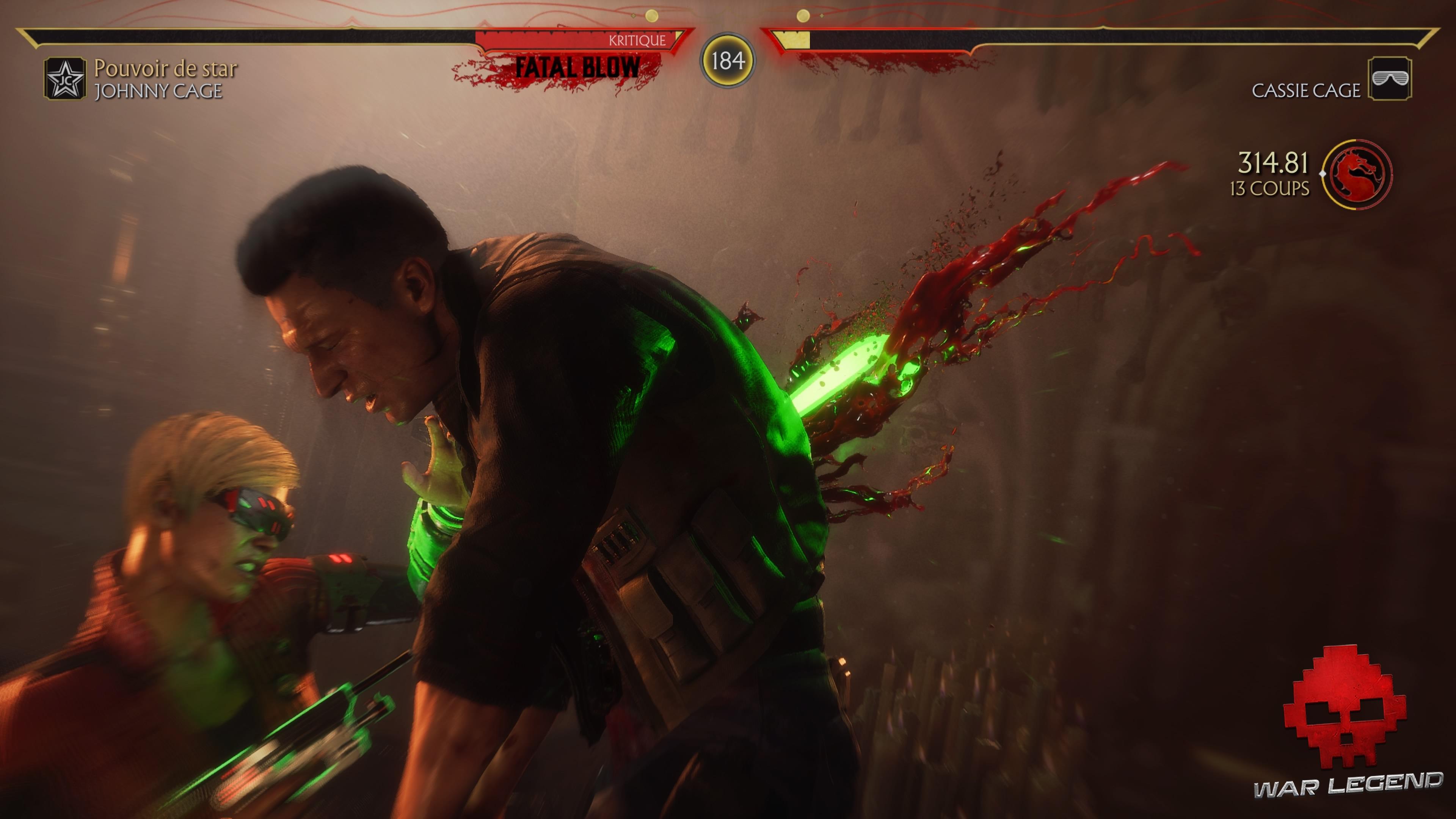 Test Mortal Kombat 11 - Fatal Blow de Cassie Cage