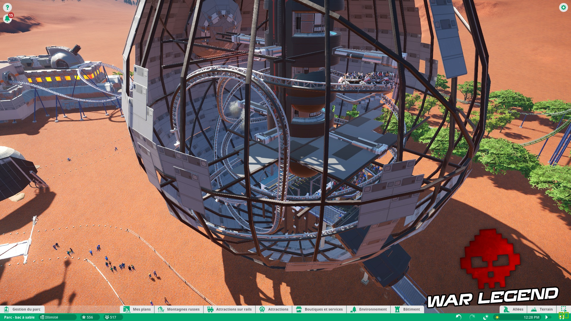 Test Planet Coaster - Quand la modernité transcende un vieux genre - Intérieur de la planète de la mort