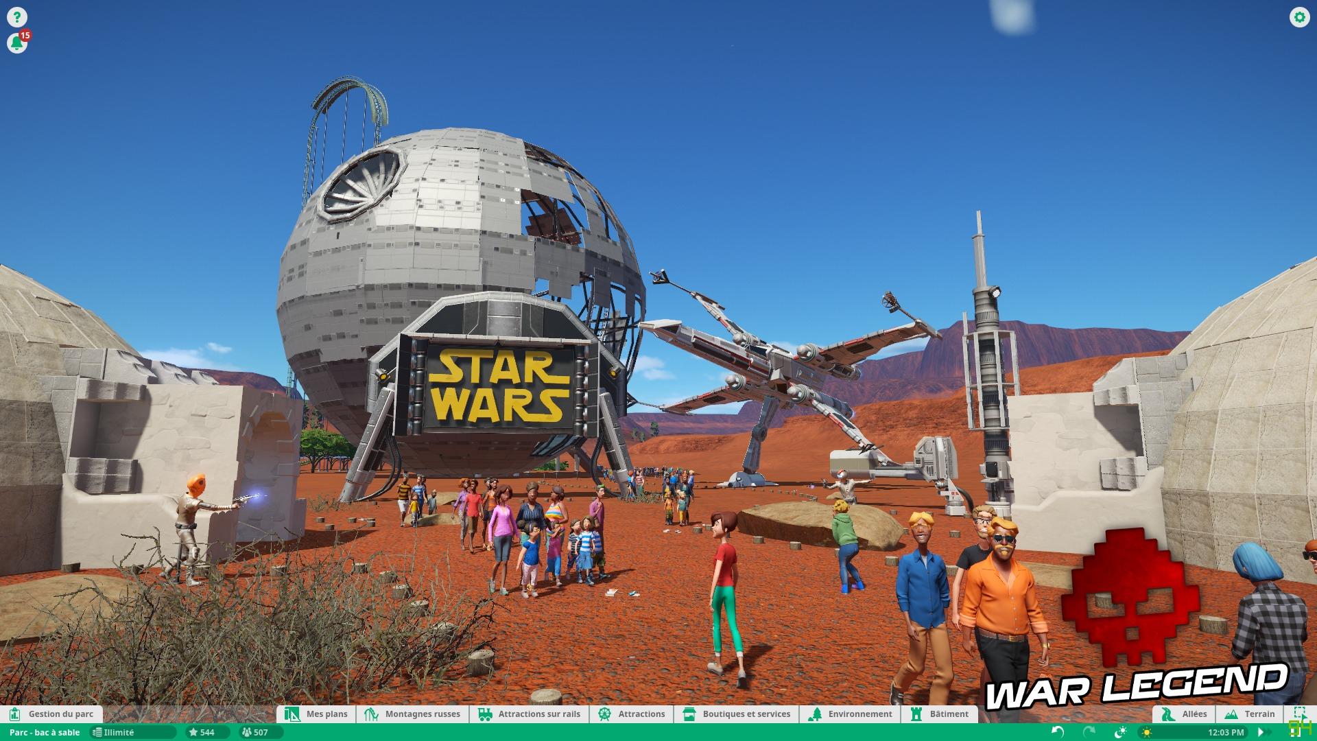 Test Planet Coaster - Quand la modernité transcende un vieux genre - Star Wars