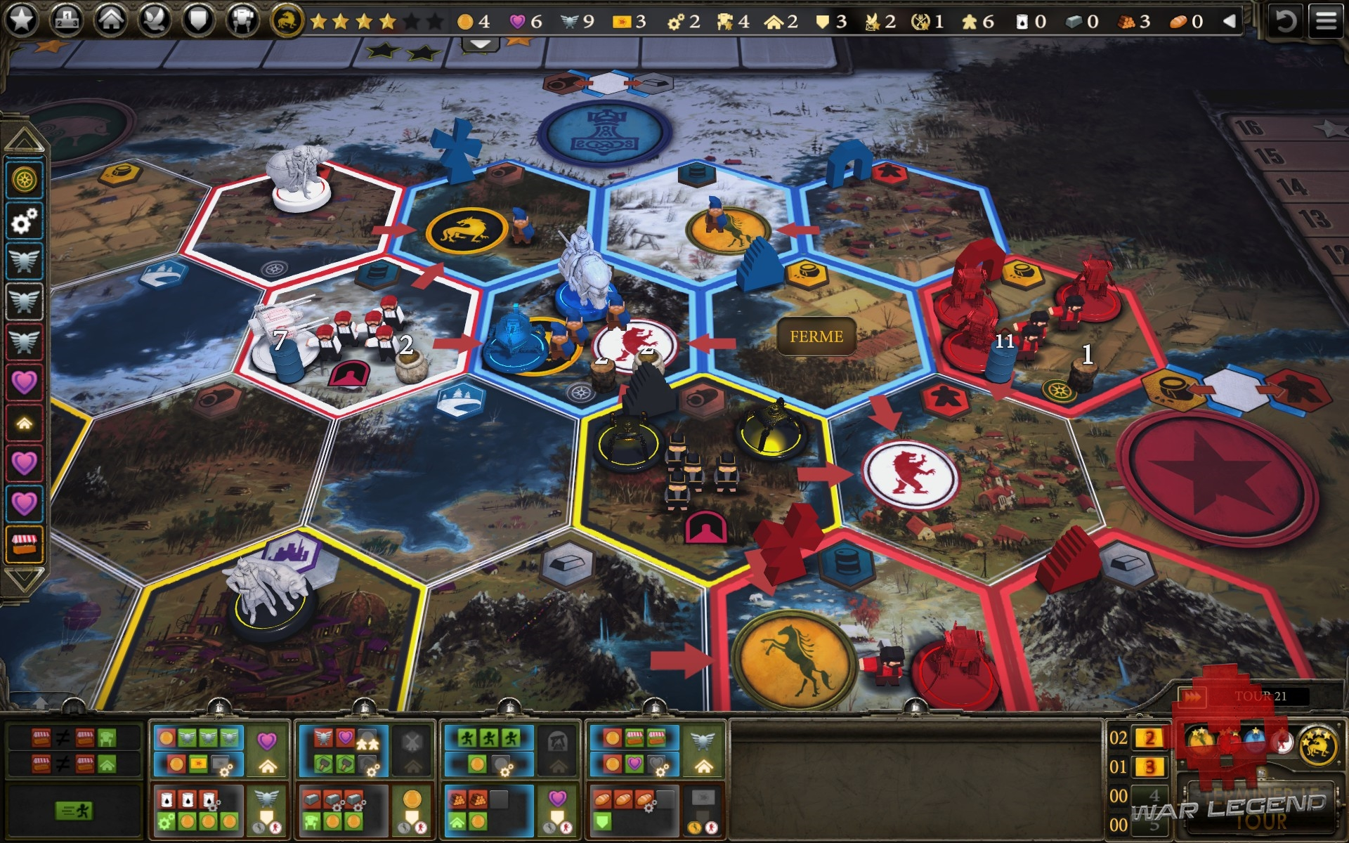 test Scythe: Digital Edition Plateau de jeu