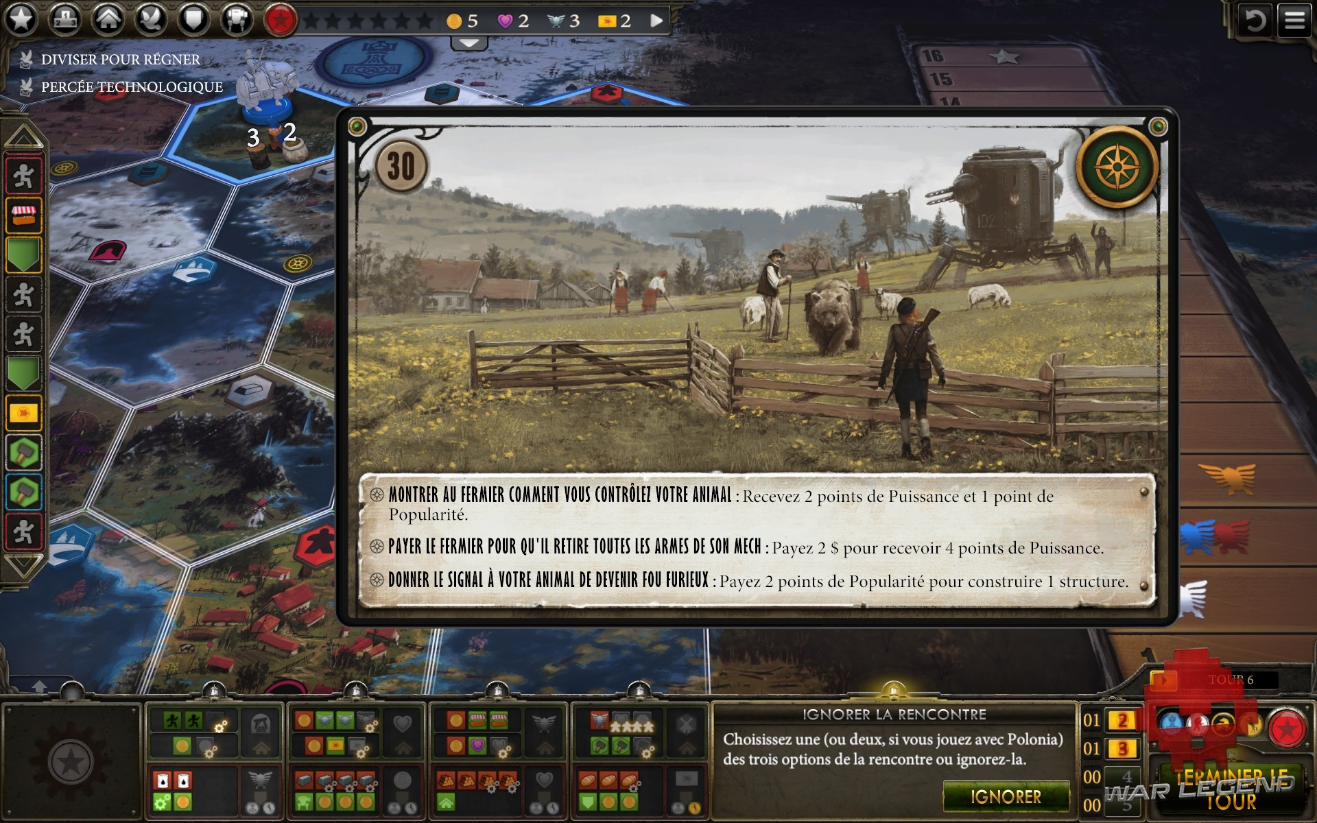 test Scythe: Digital Edition exemple carte événement