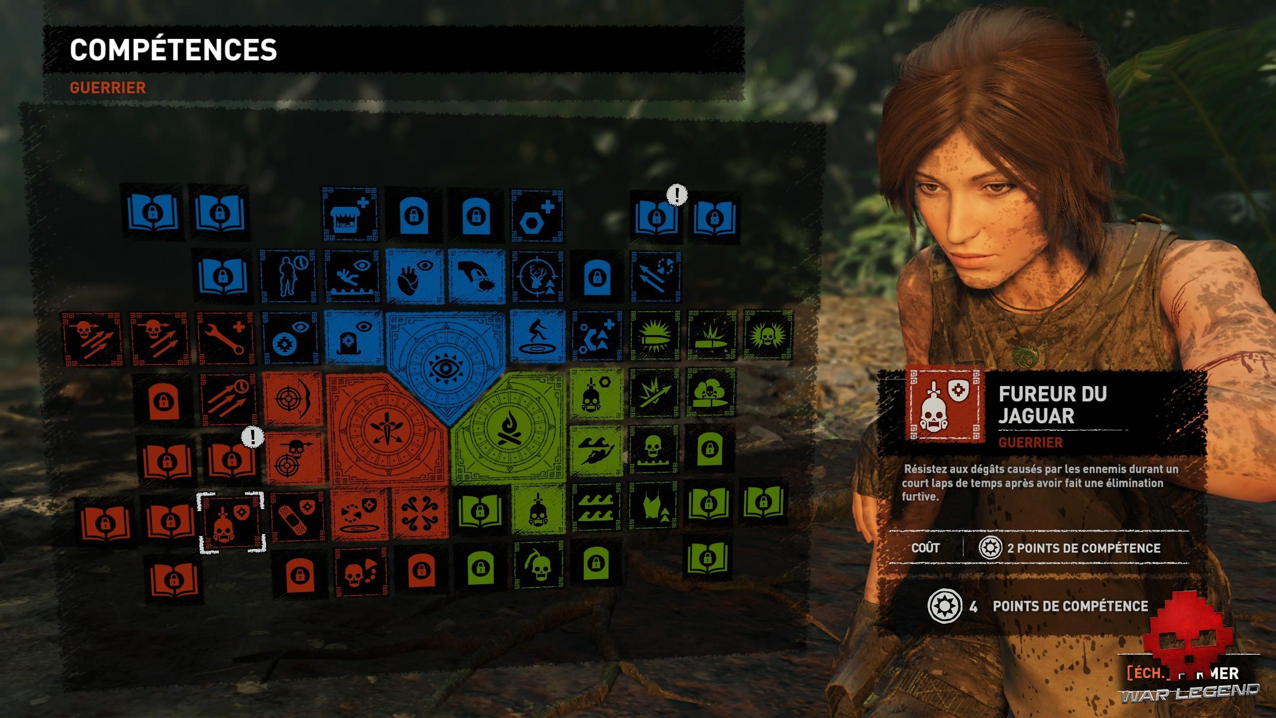 arbre de compétences de Lara
