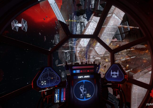 cockpit TIE Fighter
