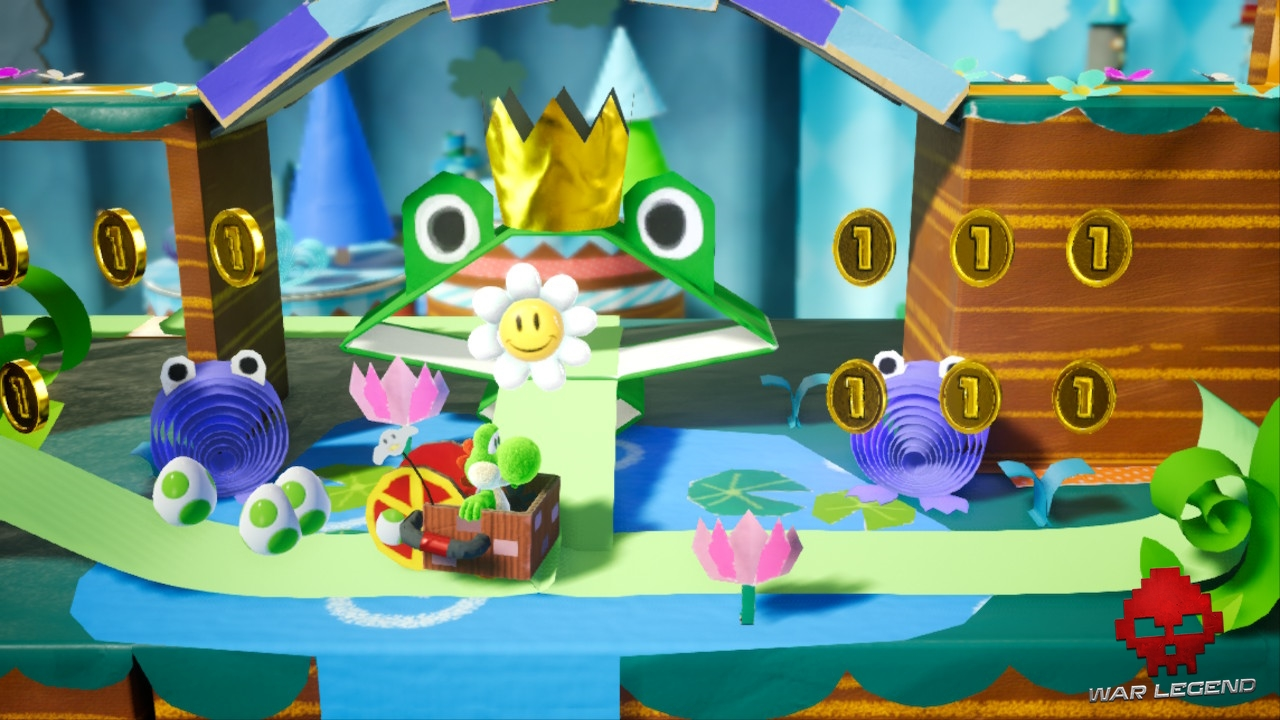 Test Yoshi's Crafted World - Une fleur souriante