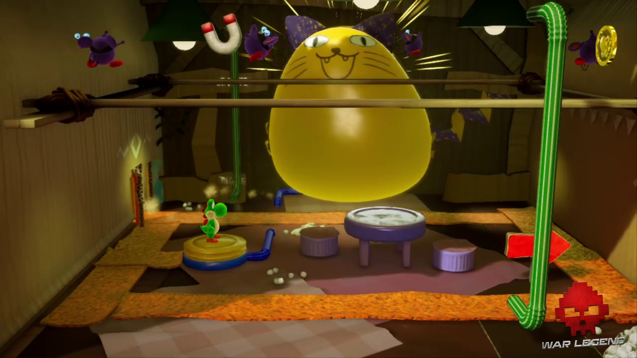 Test Yoshi's Crafted World - Le chat ballon