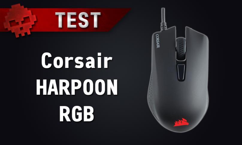 Test Corsair Harpoon RGB - le rapport qualité/prix a un nom - souris