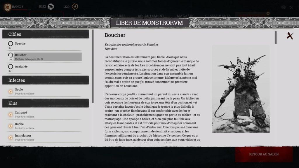 L'encyclopédie du jeu, regorgeant de lore.