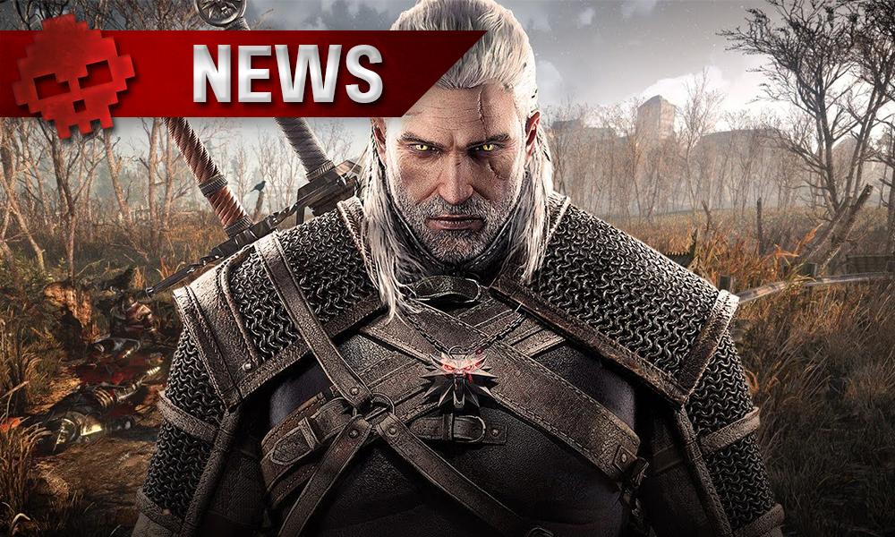 Geralt tournant le dos à un champ de bataille