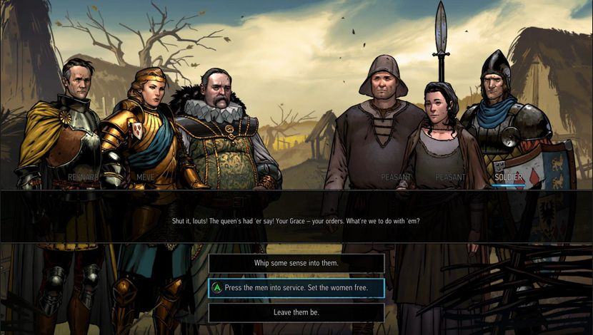 phase de discussion dans Thronebreaker
