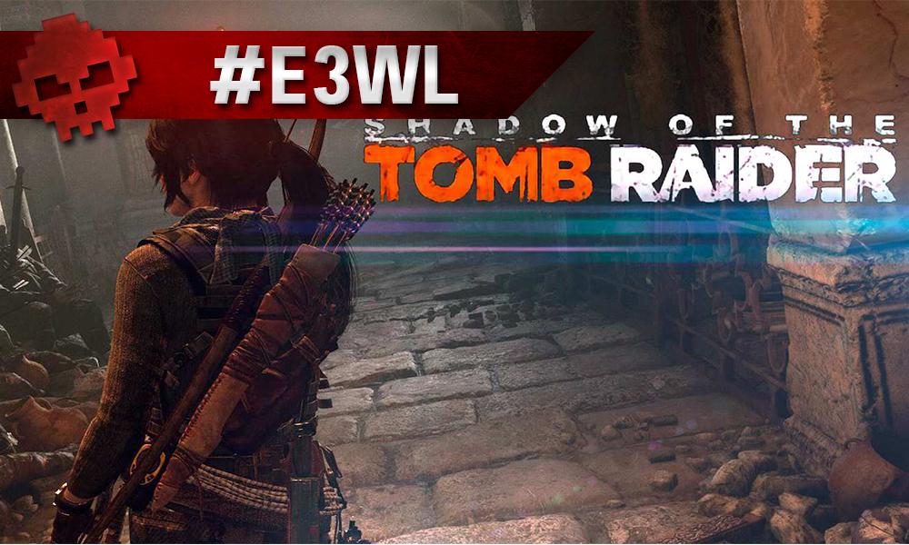 Lara Croft explore des ruines