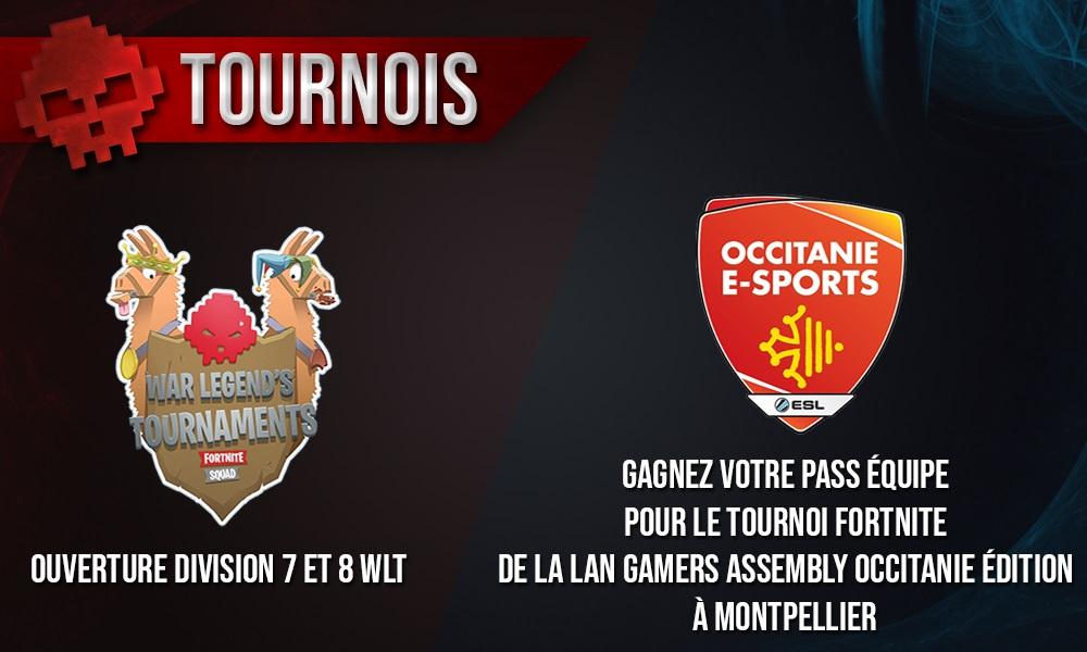 logo tournoi fortnite war legend et occitanie esport - tournoi fortnite e3 equipe