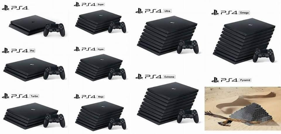 Test PS4 Pro humour ajout d'étages à la console