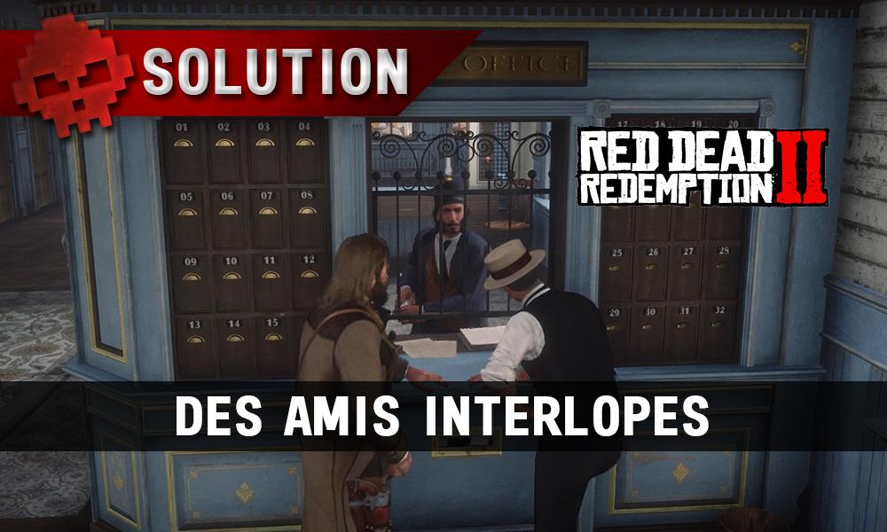 vignette soluce red dead redemption 2 des amis interlopes
